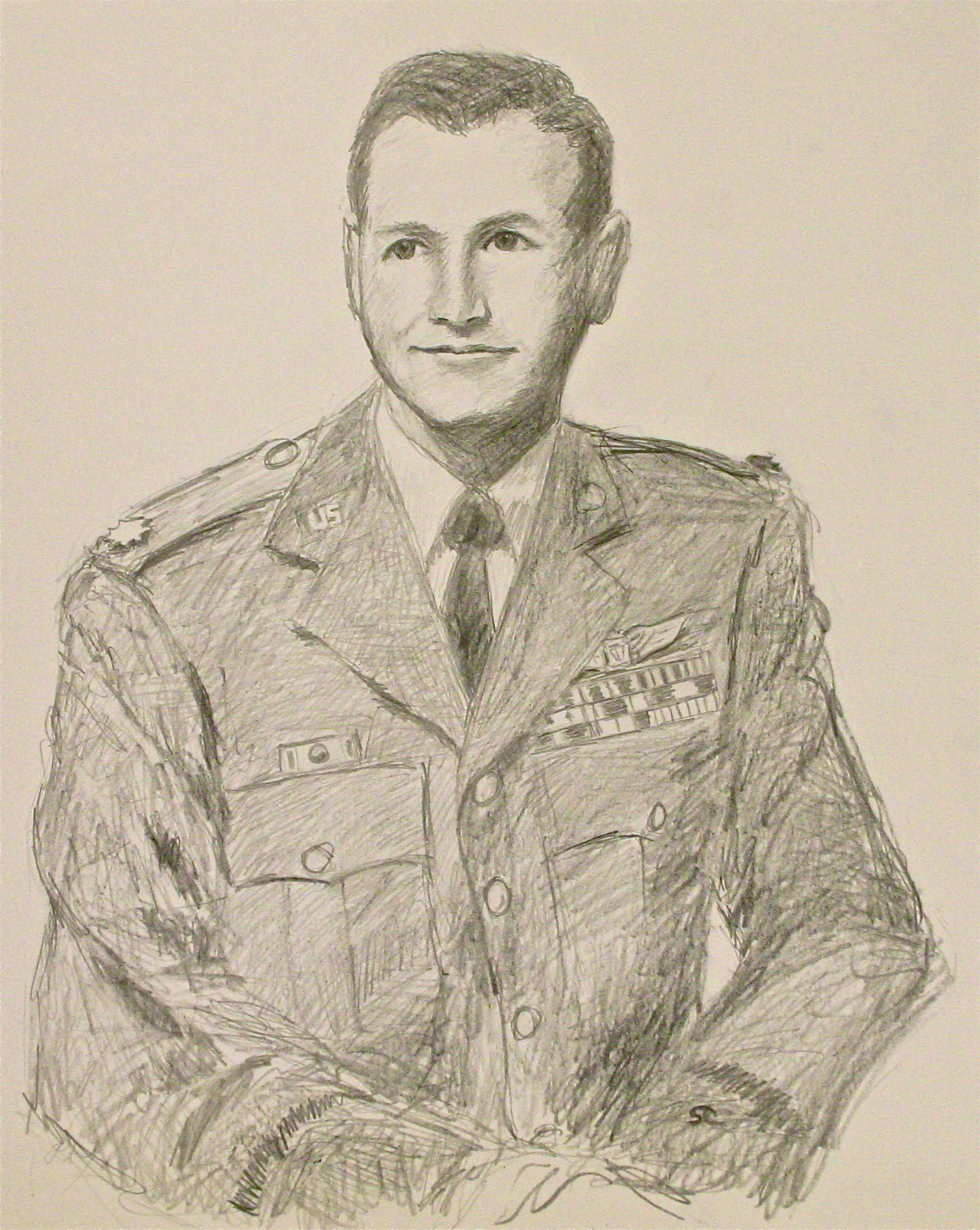 """""""Young Bob Mize"""" graphite on paper, sold."""