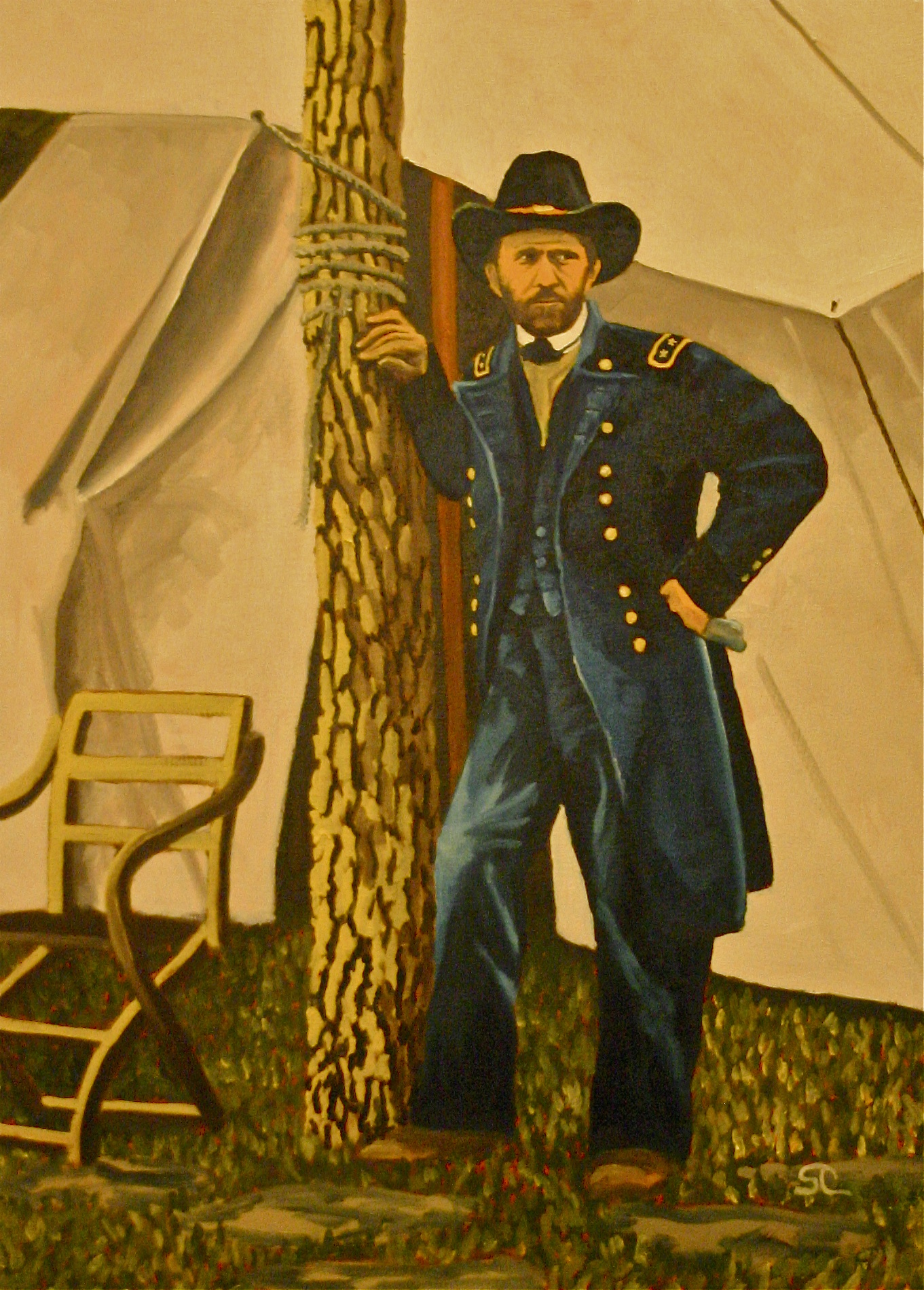 """""""General Grant"""" oil on panel 24 x 30"""