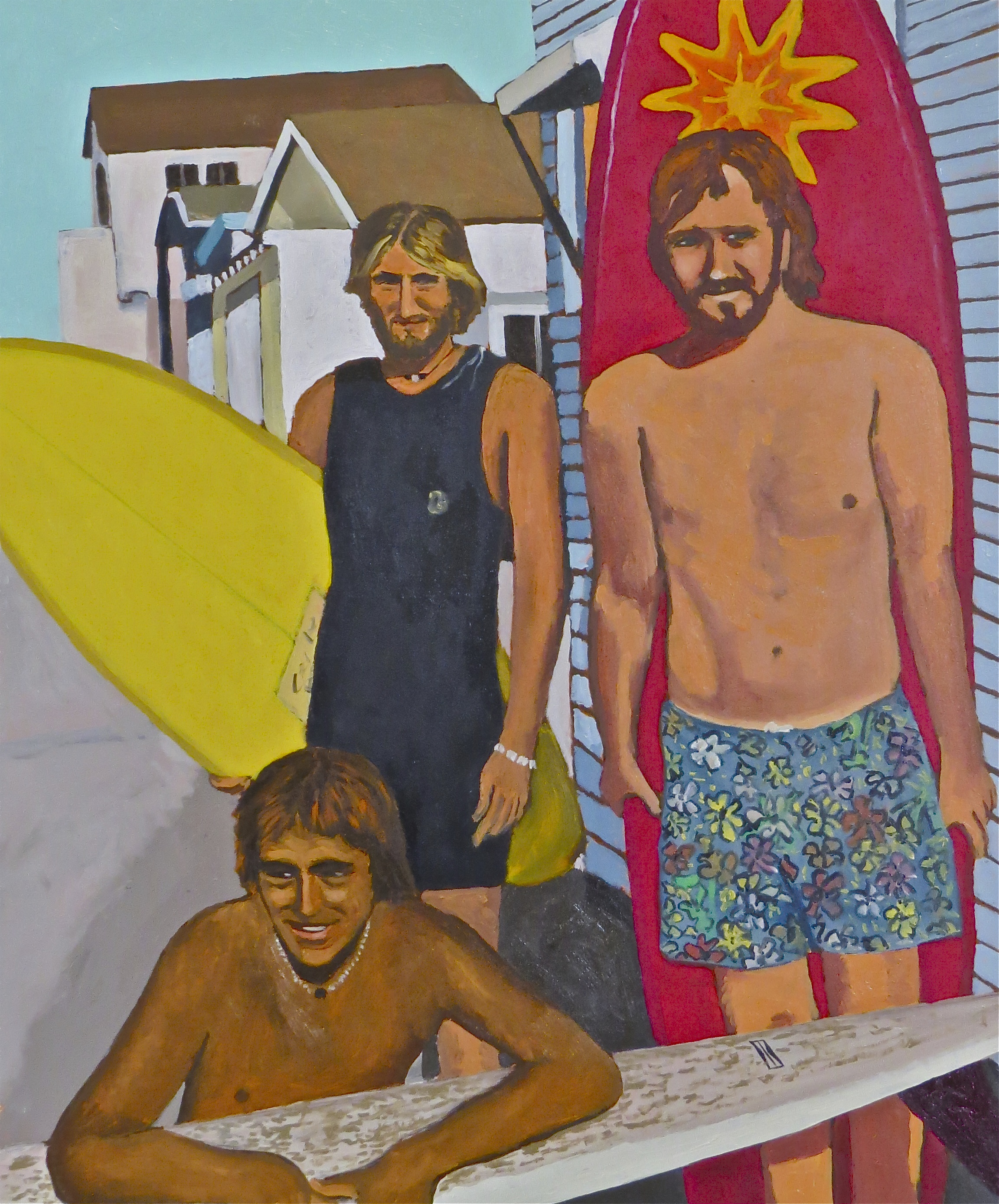 """""""MB Boys"""" oil on panel 20 x 24, collection of the artist"""