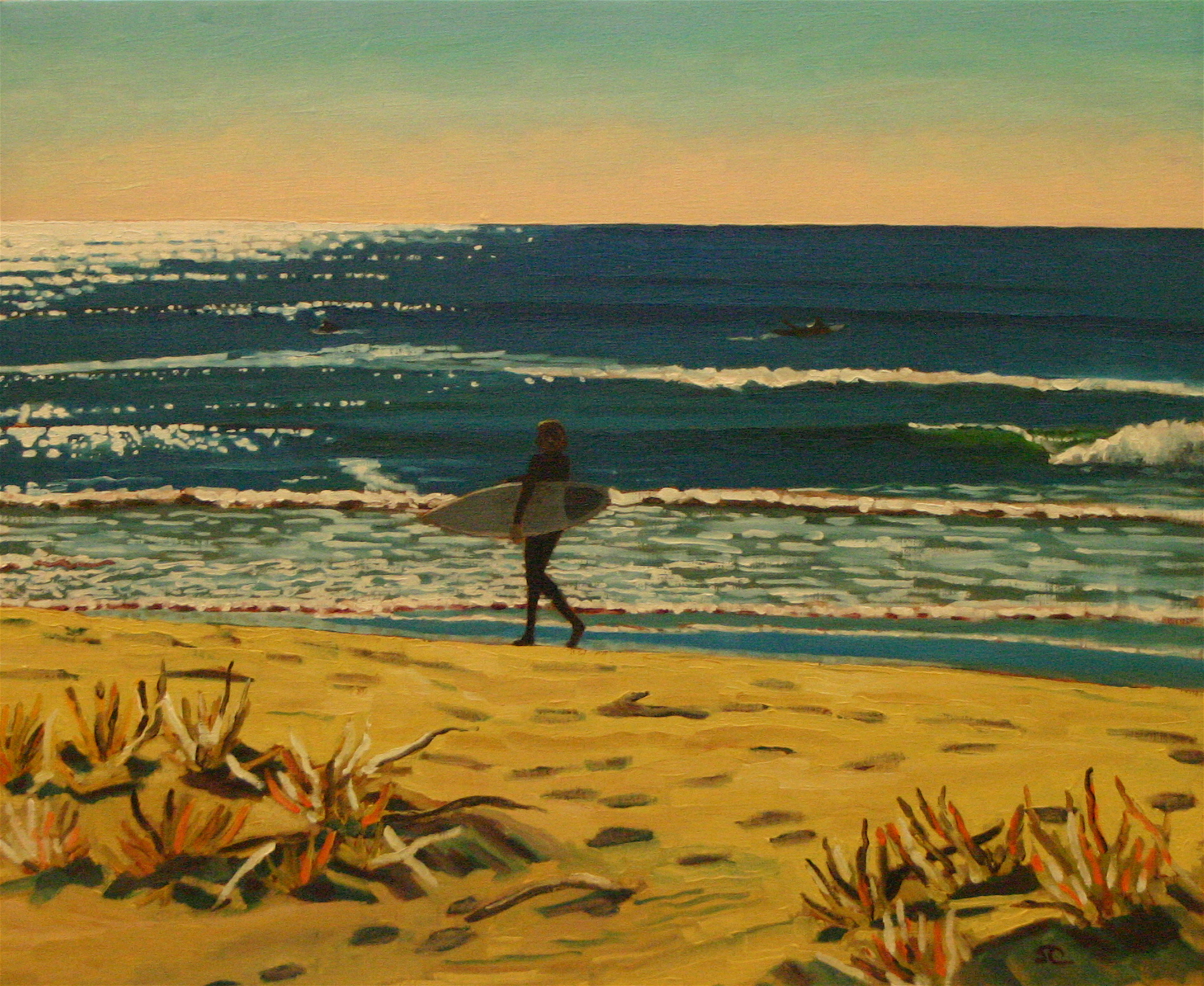 """""""Silver Strand Afternoon"""" oil on linen, 20 x 24, sold"""