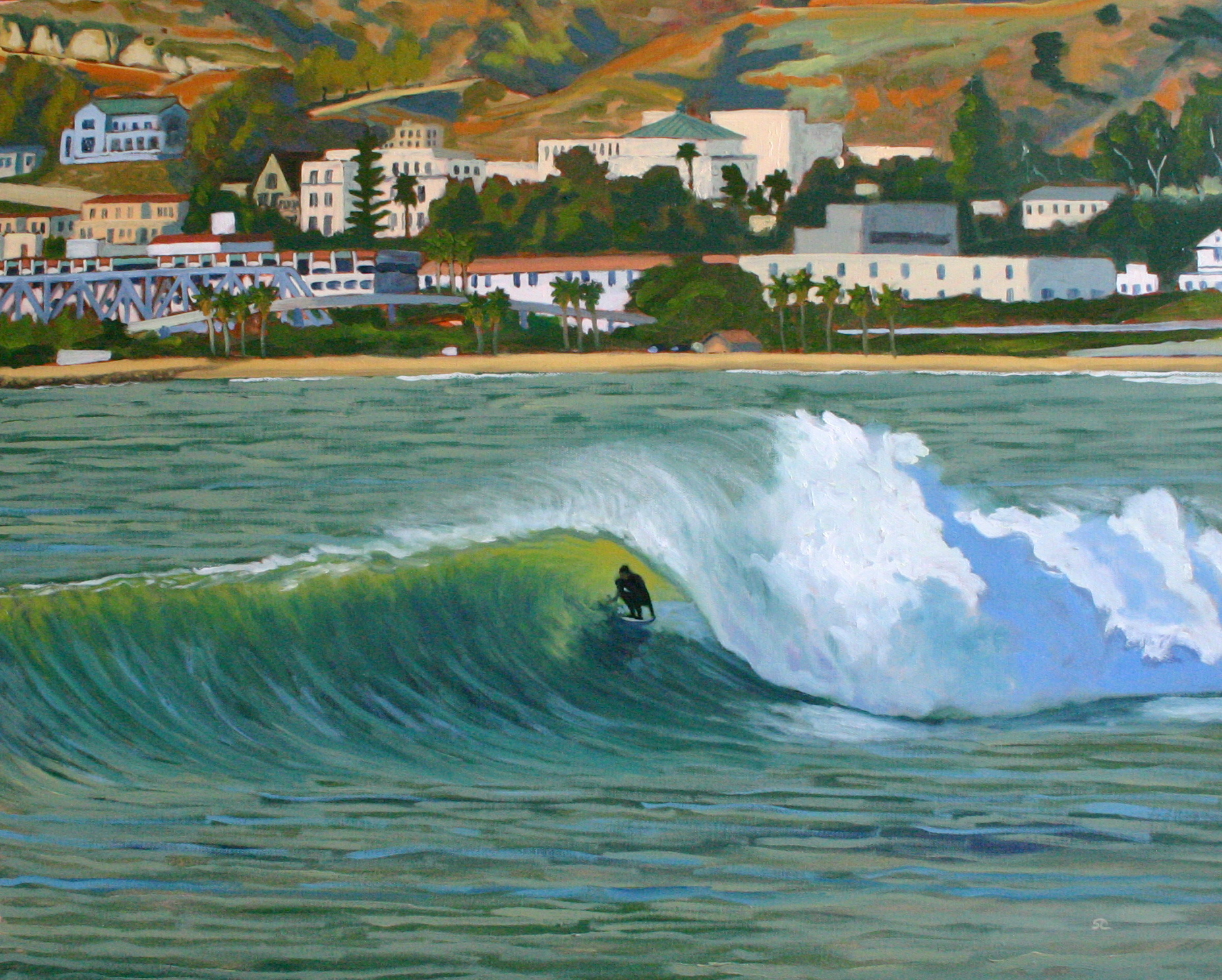 """Dredge Barrel"" oil on canvas 24 x 30, sold"