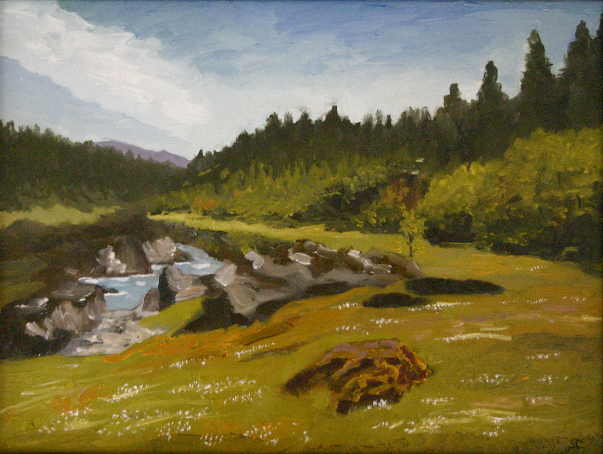 """Eel River"" oil on panel 16 x 20 sold"