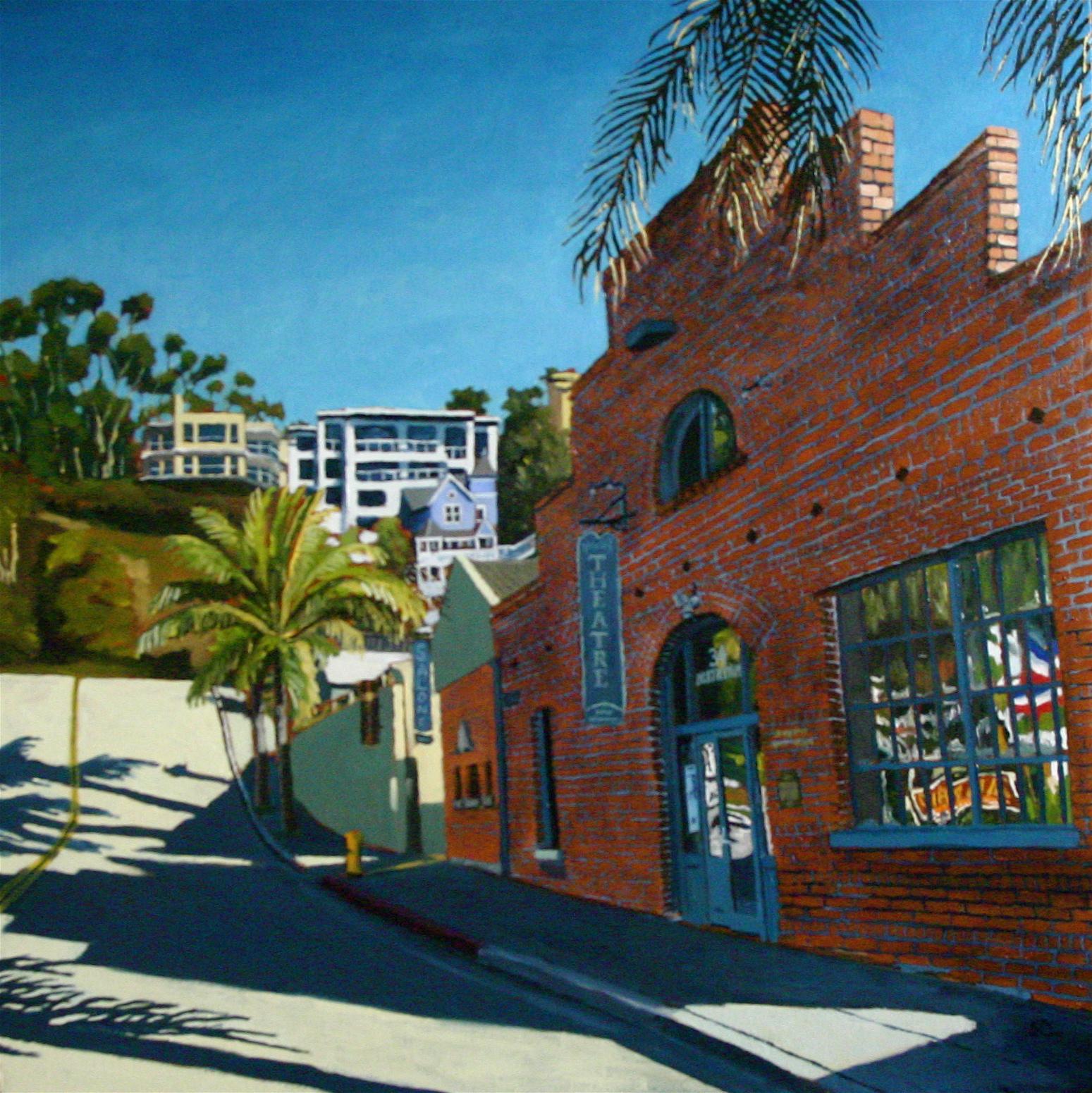 """Morning Bricks"" oil on canvas 24 x 24 sold"