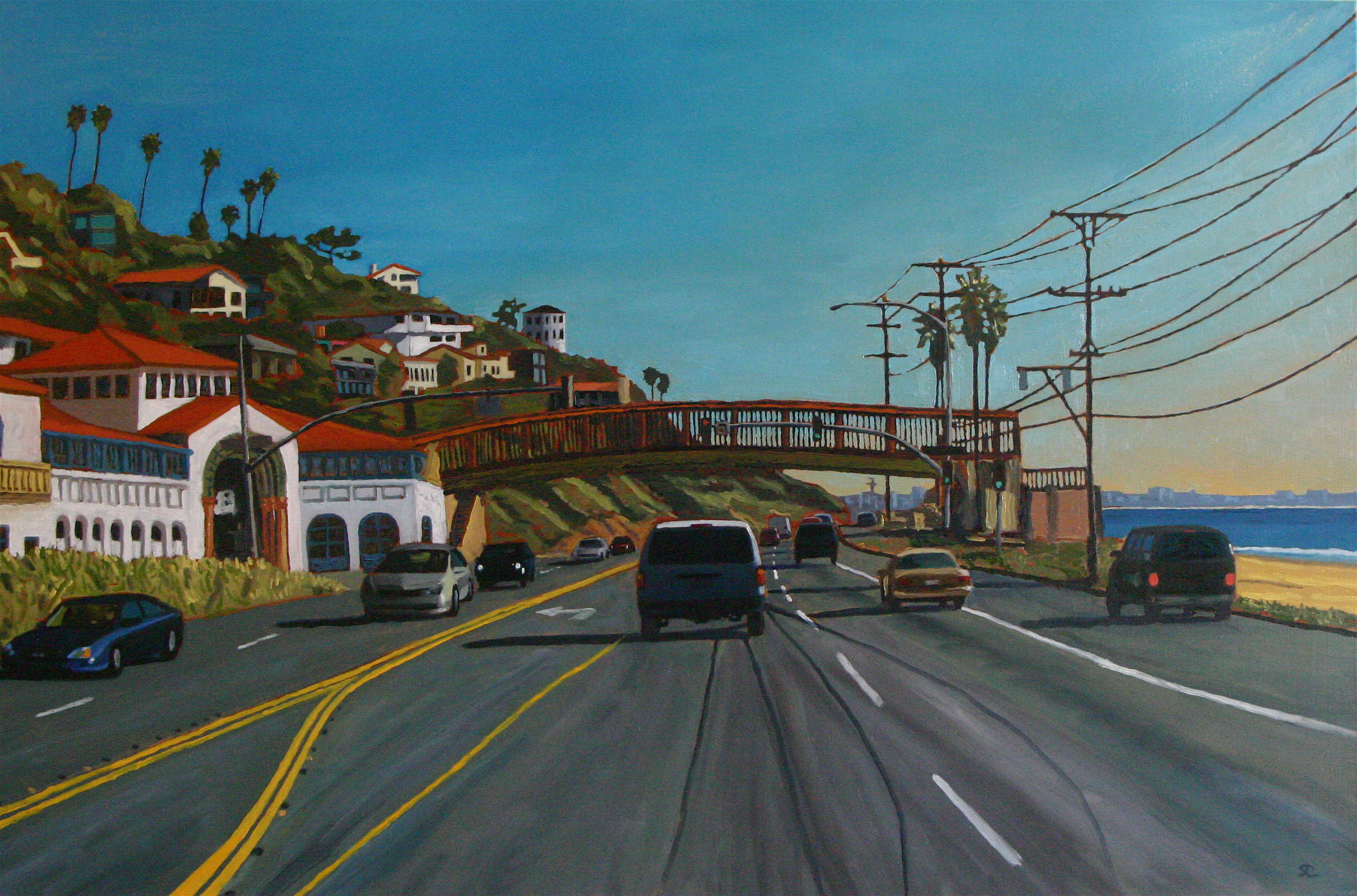 """Out on PCH"" oil on canvas 24 x 36 sold"