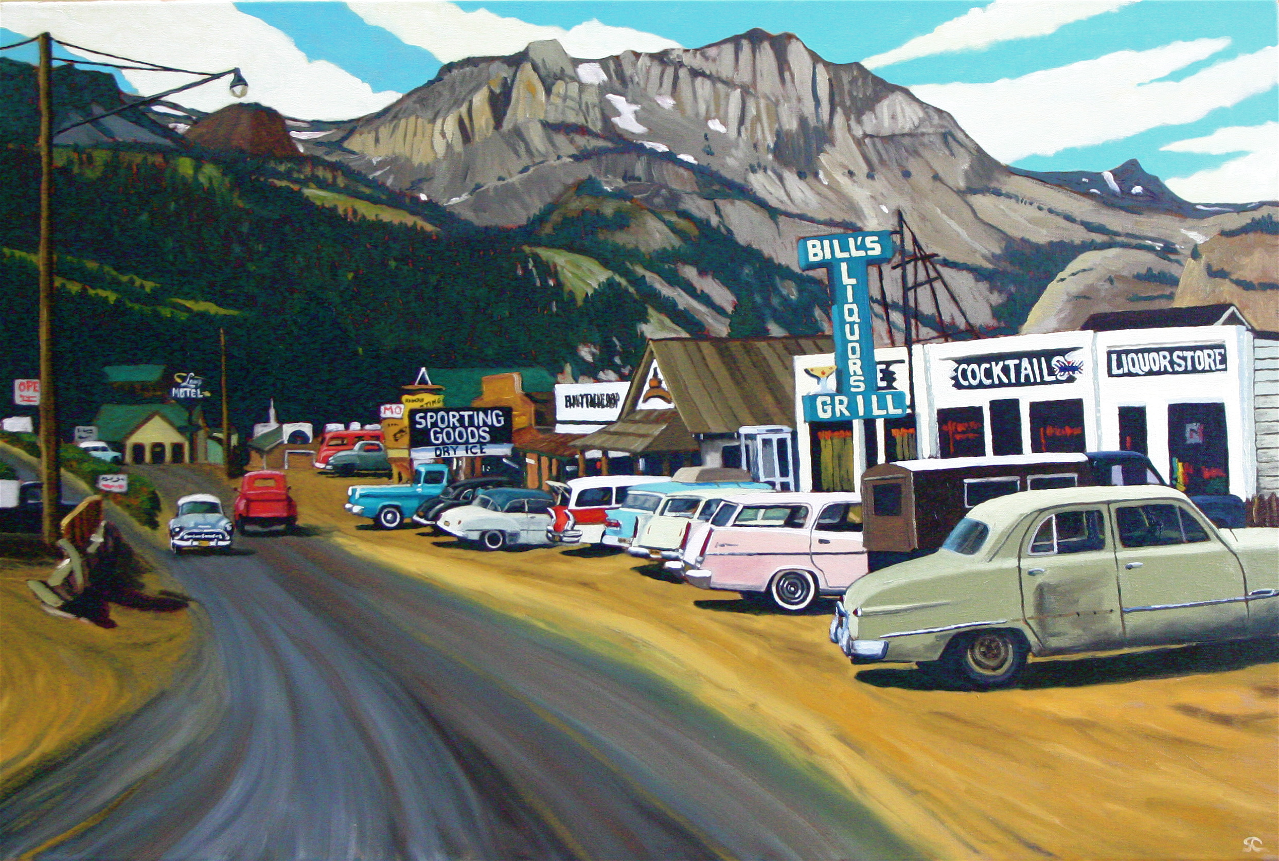 """June Lake, 1958"" oil on canvas 24 x 36 sold"
