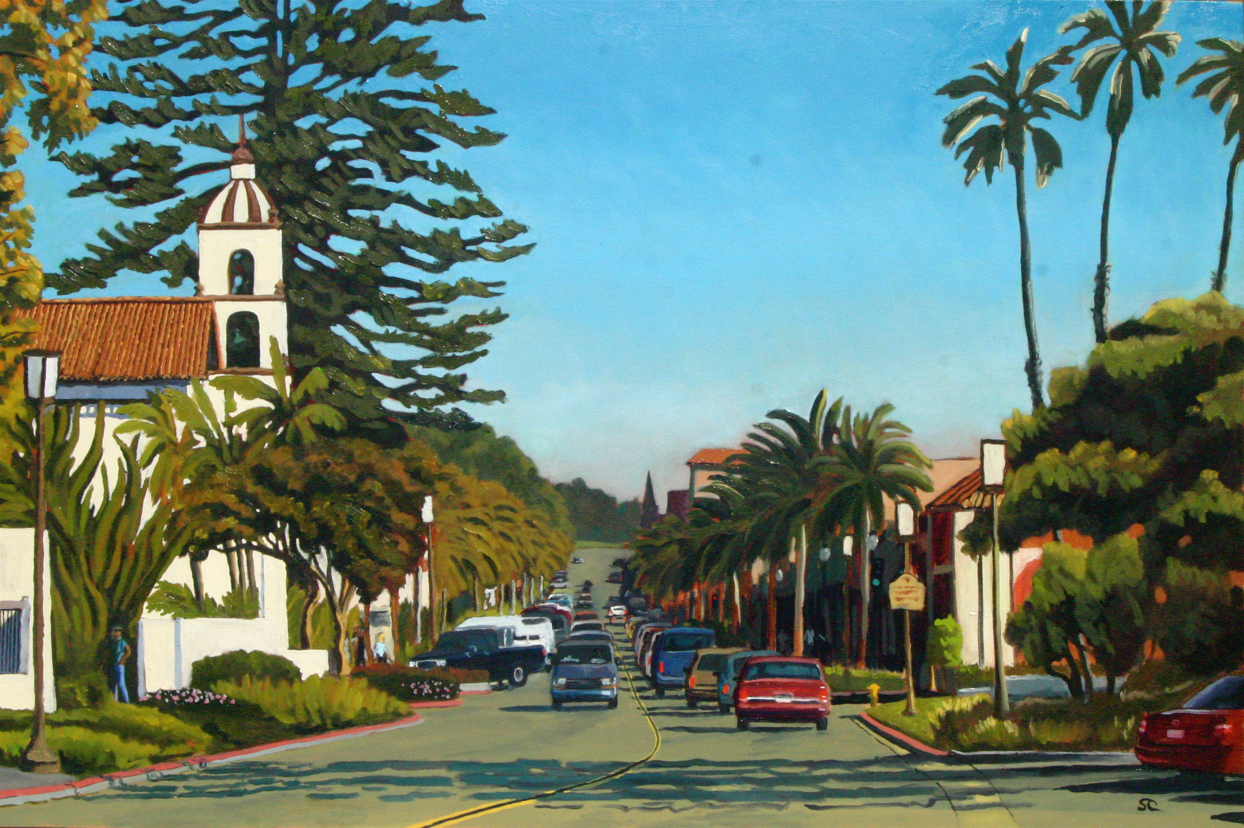 """""""Main Street Afternoon"""" oil on canvas 24 x 36 sold"""