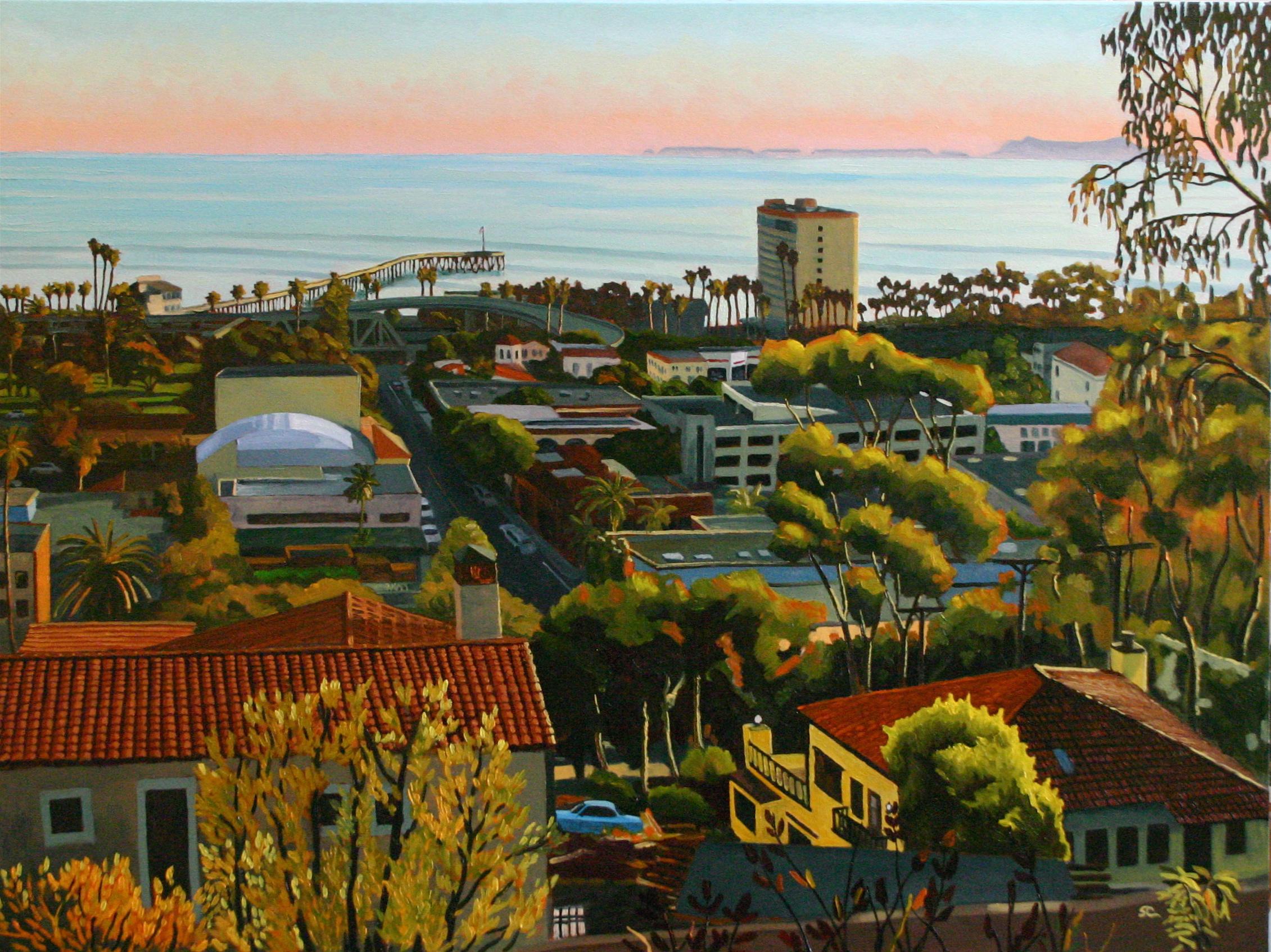 """Chestnut Street"" oil on canvas 36 x 48 sold"