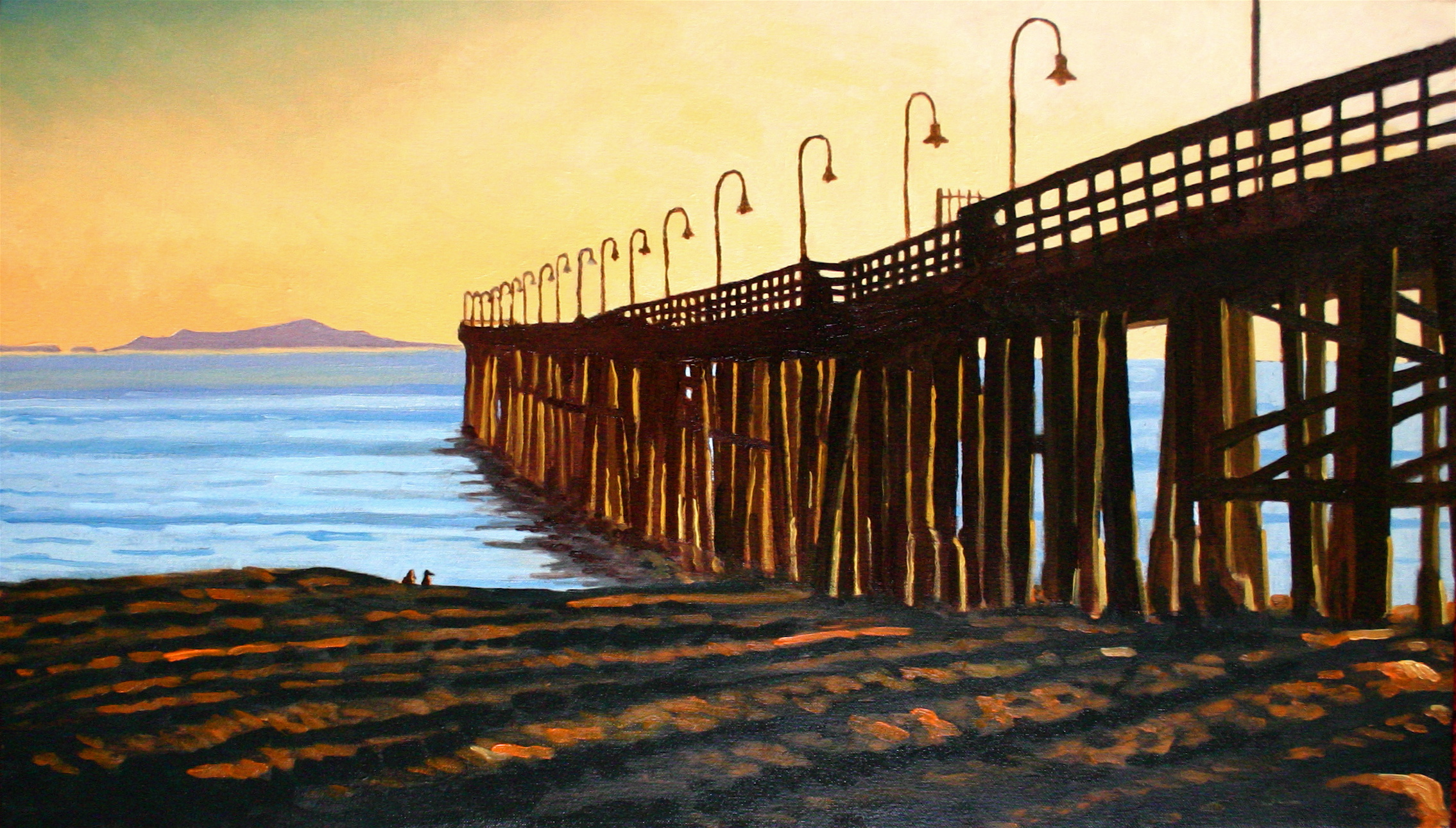 """""""Sunset Shadows"""" oil on canvas 18 x 30 sold"""