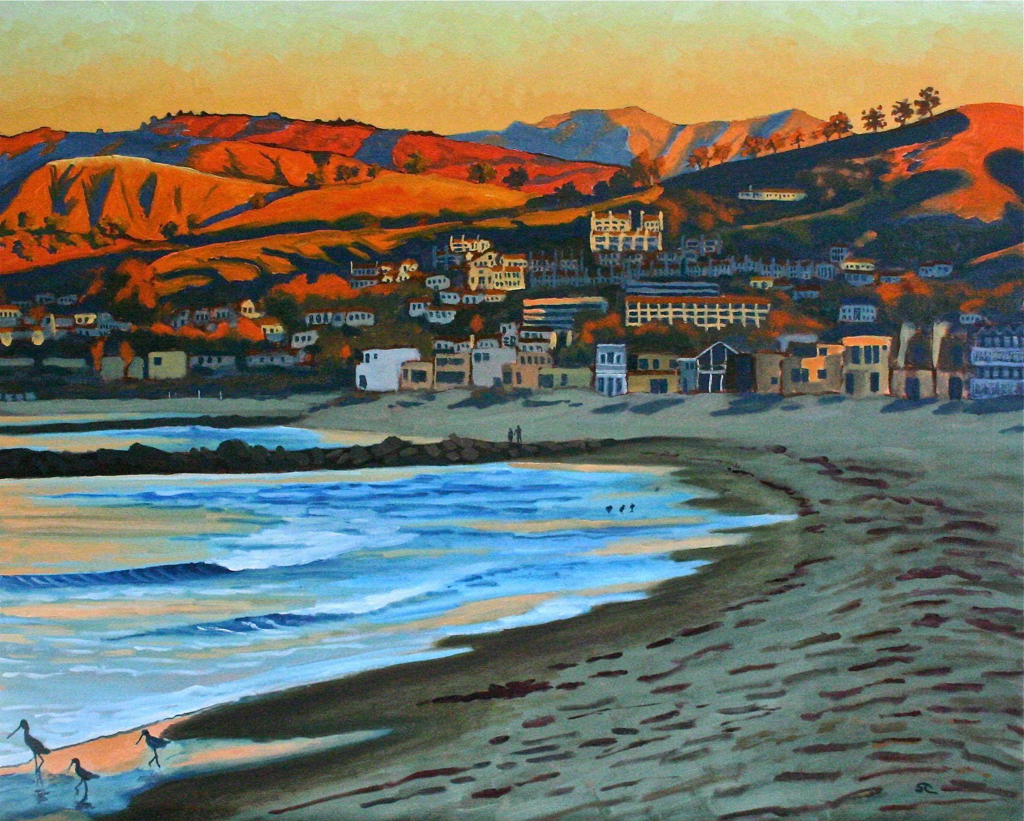 """Pierpont Sunrise"" oil on canvas 24 x 30 sold"