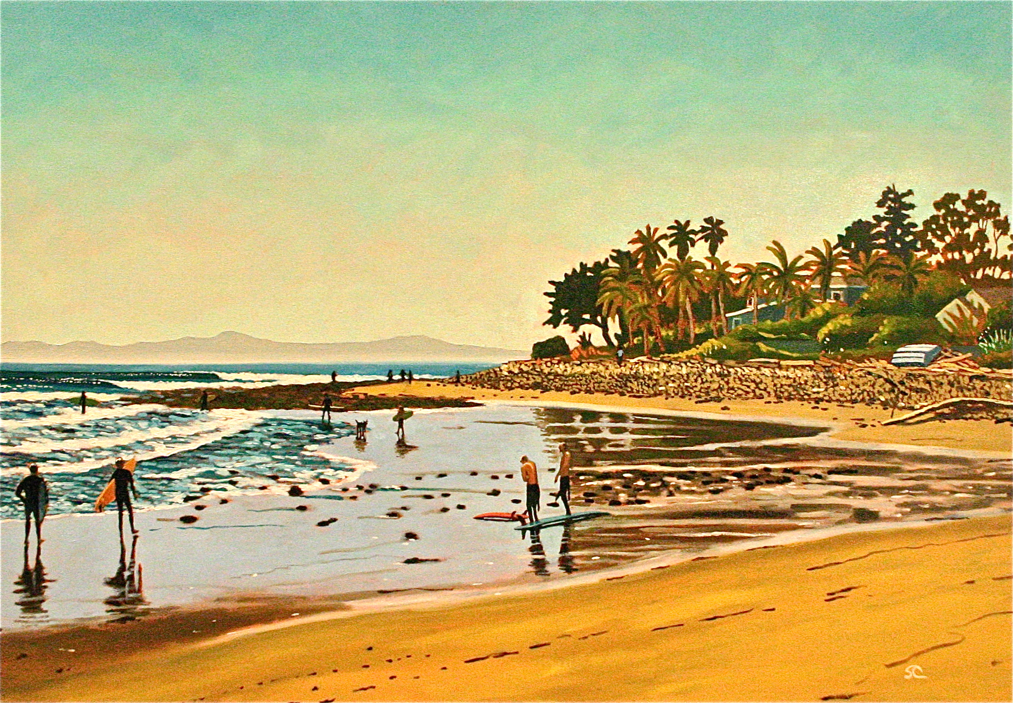 """Rincon Reflections"" oil on canvas 28 x 40 sold"