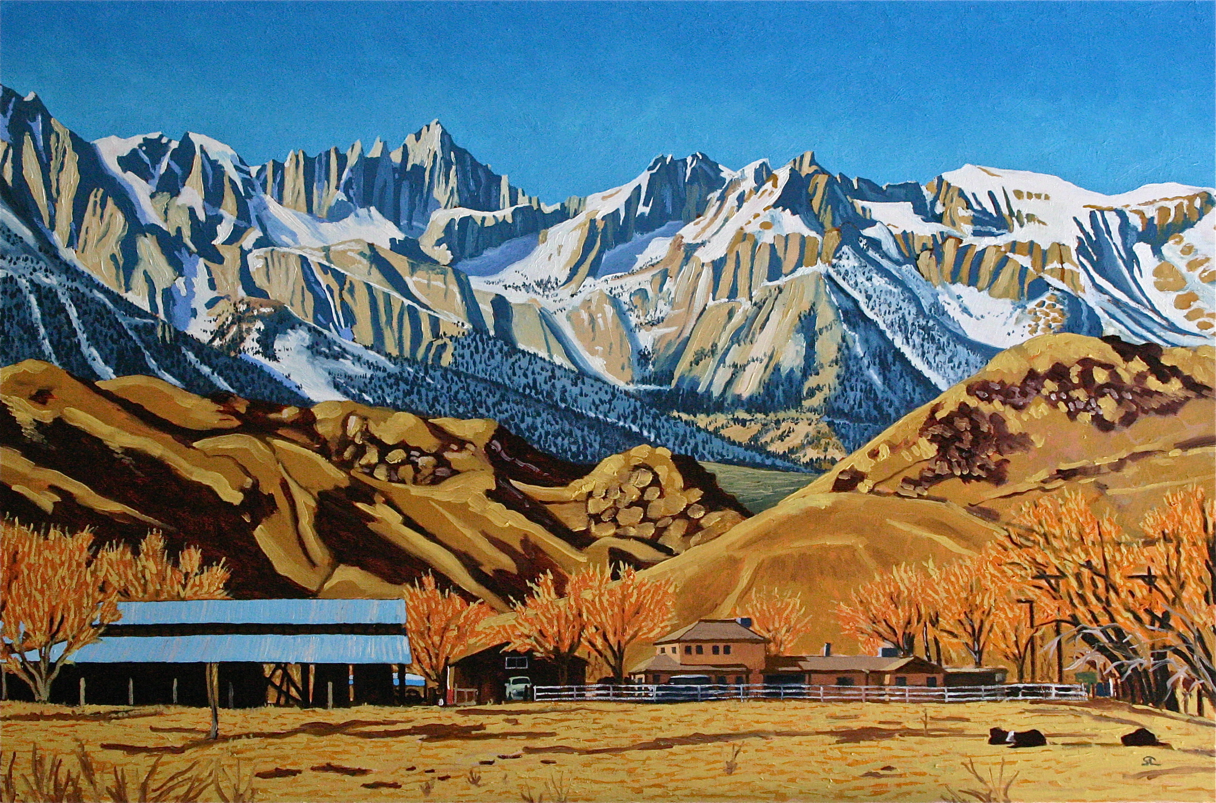 """Mount Whitney"" oil on canvas 24 x 36 sold"