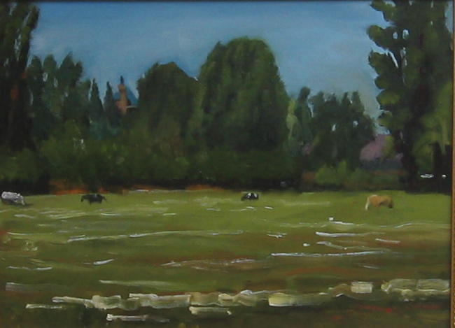 """Idaho Horses"" oil on panel 12 x 16 sold"
