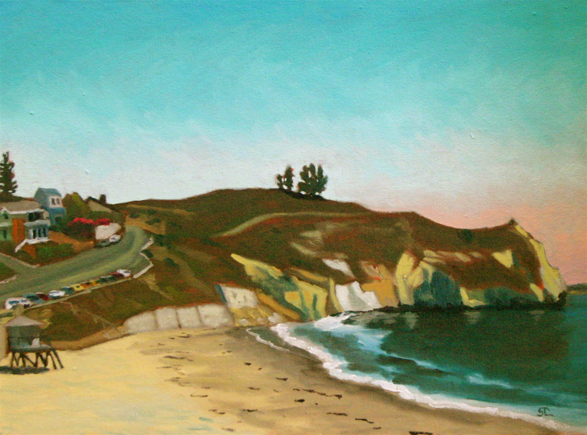 """Avila Beach"" oil on panel 12 x 16"
