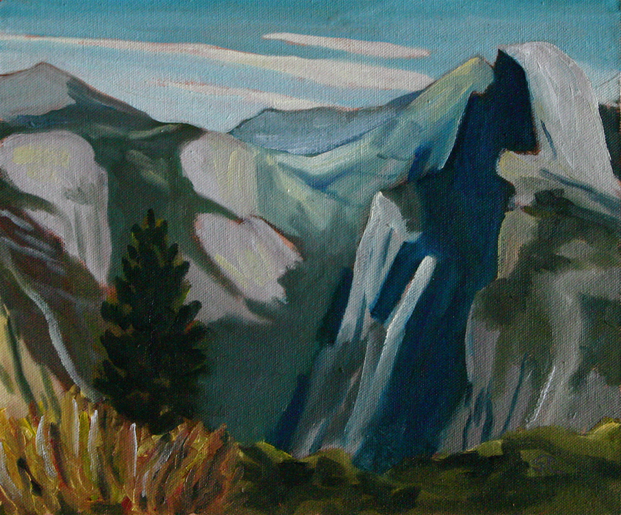 """Half Dome from Glacier Point"" oil on canvas 8 x 10"