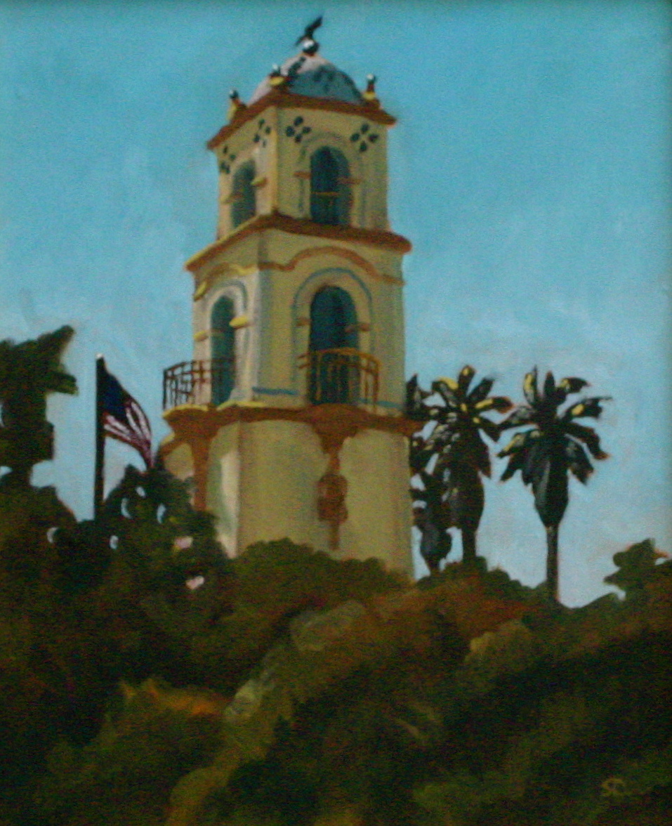 """Ojai Post Office"" oil on panel 10 x 12"