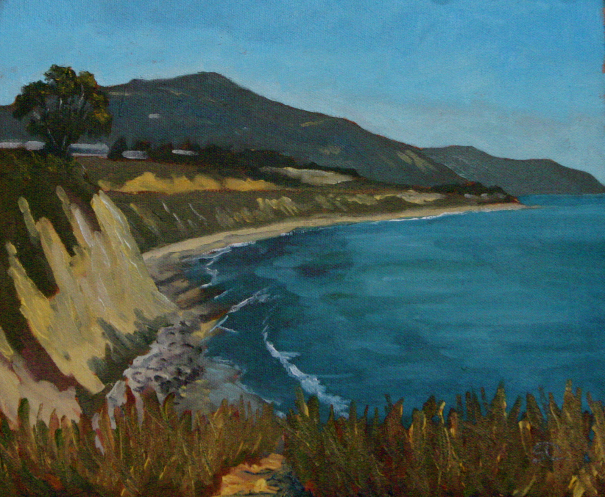 """Carpinteria Bluffs"" oil on panel 10 x 12 sold"