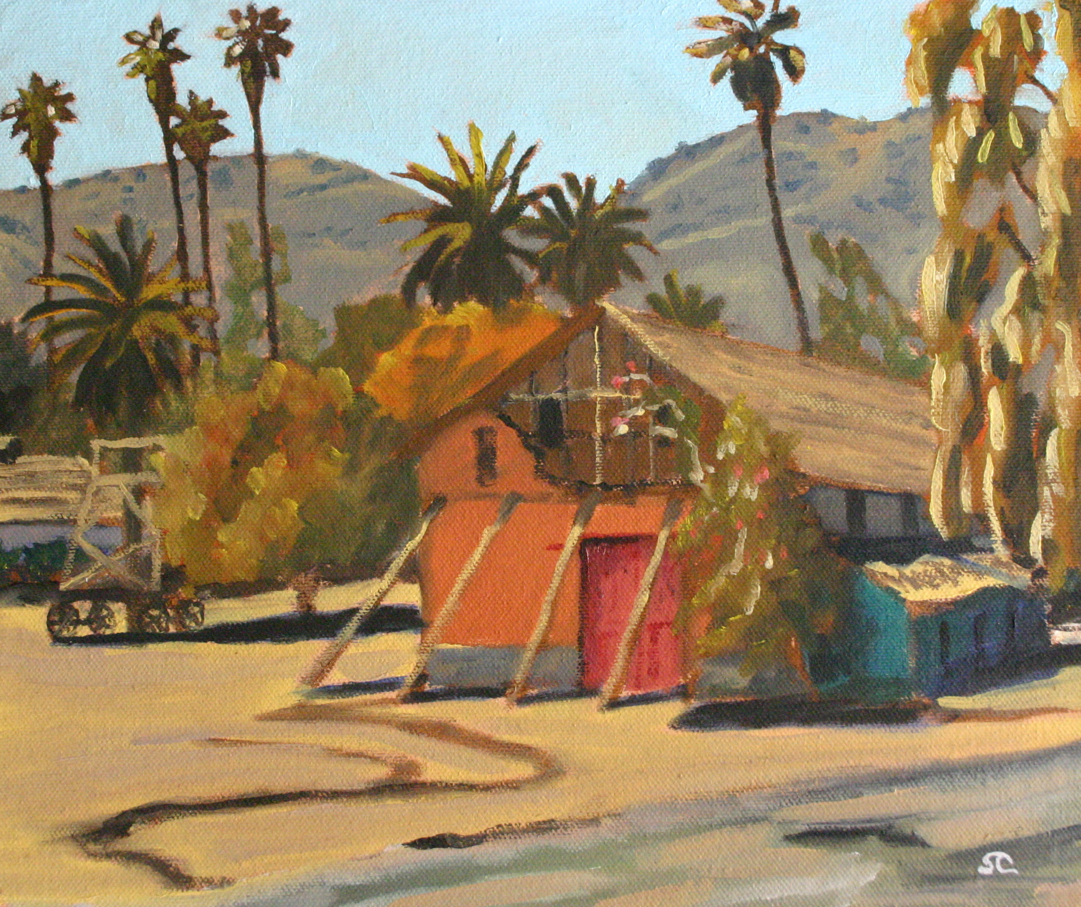"""Rancho Camulos"" oil on panel 10 x 12"