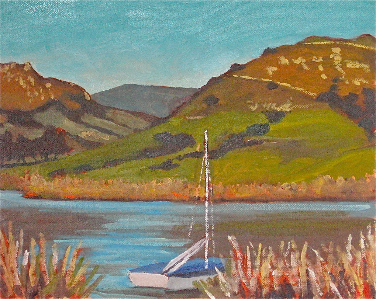 """Laguna Lake"" oil on panel 10 x 12"