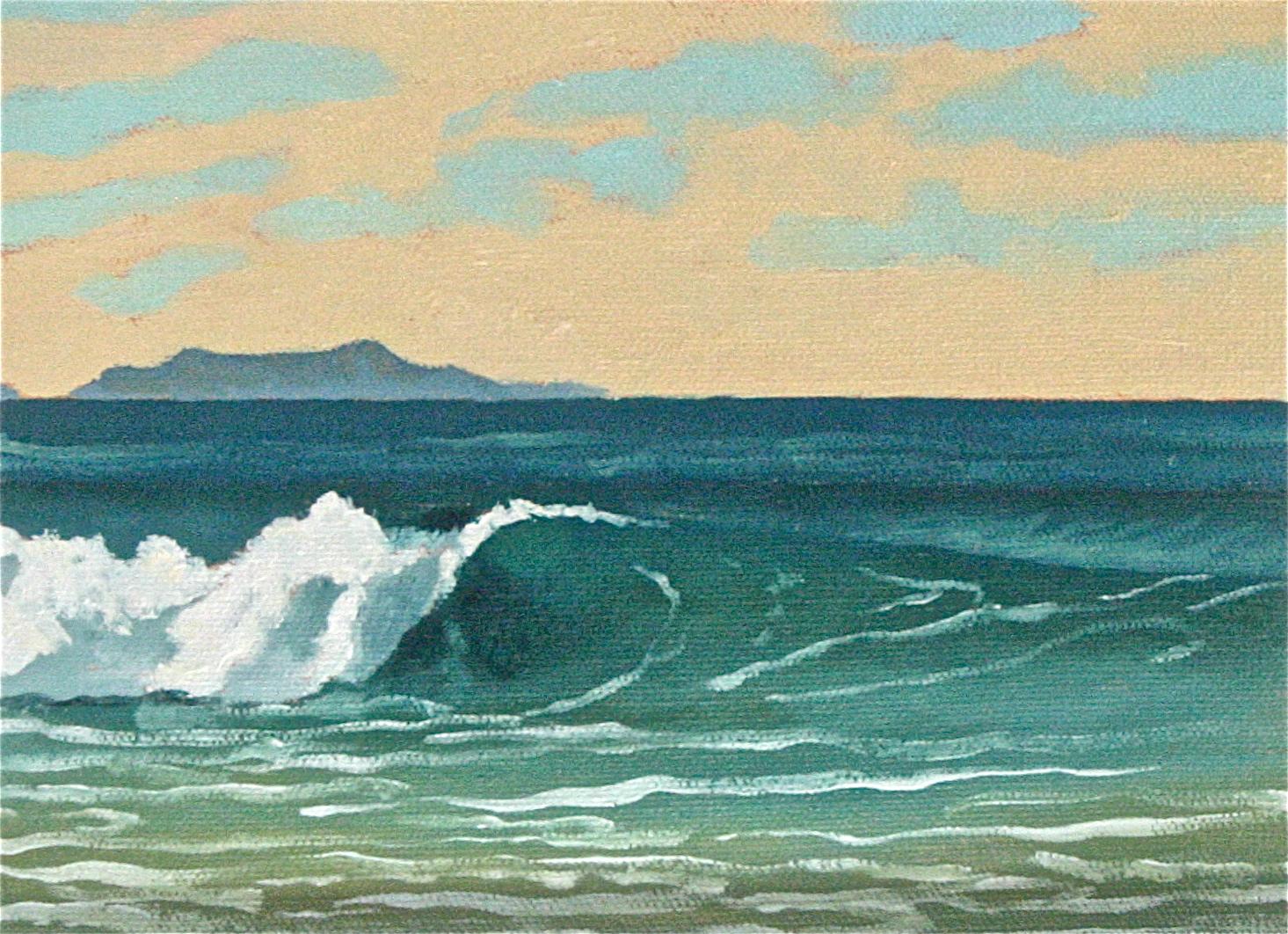 """Pierpont Left"" oil on canvas 5 x 7 sold"