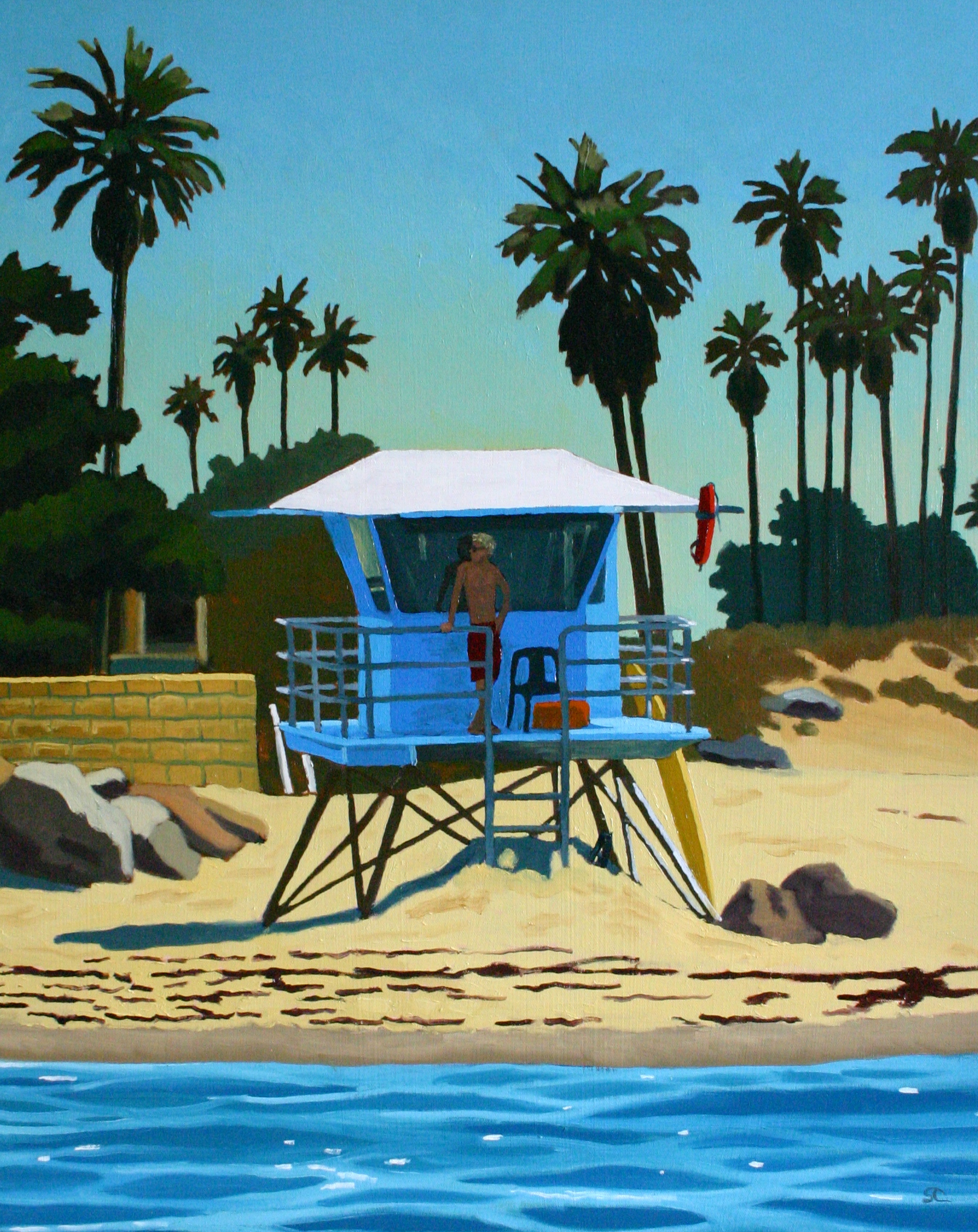 """""""Lifeguard GQ"""" oil on canvas 24 x 30 sold"""