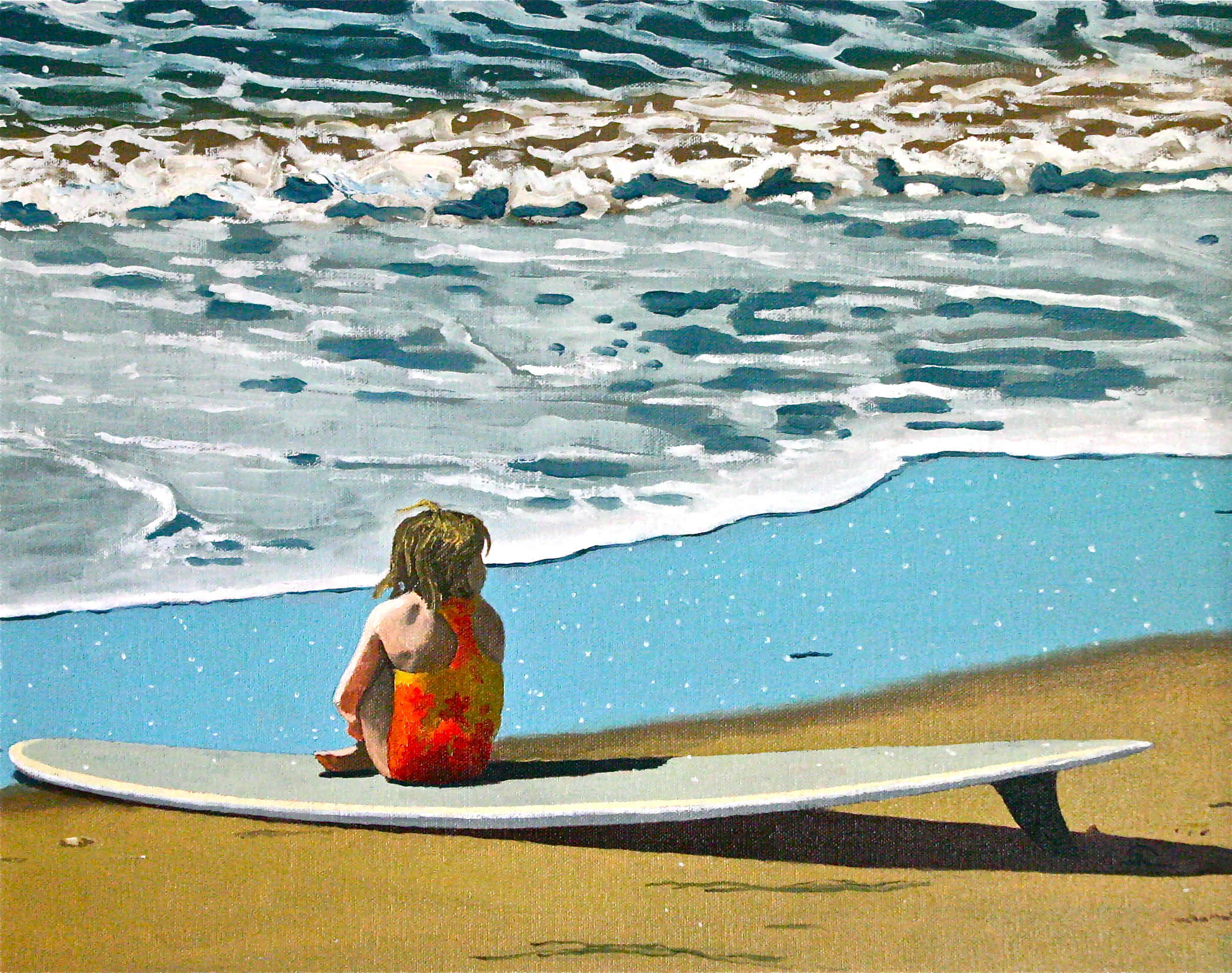 """The Little Mermaid"" oil on canvas 16 x 20"