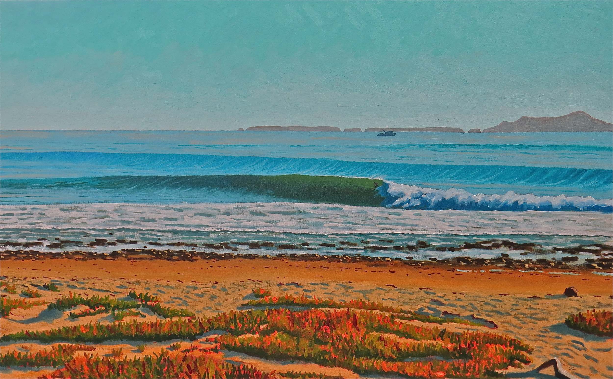 """""""October West Swell"""" oil on canvas 30 x 48 sold"""