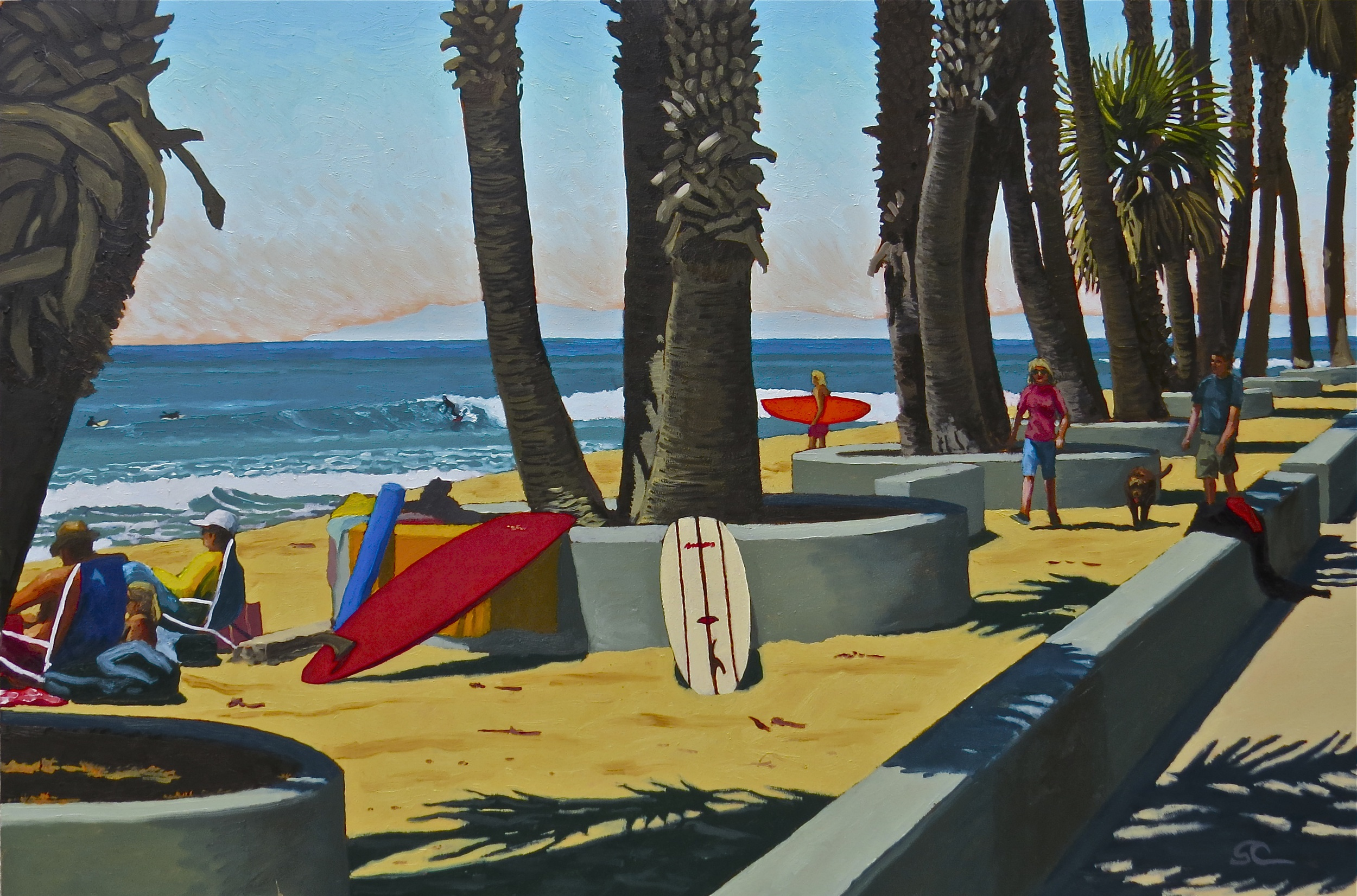 """""""Summer Day at the Point"""" oil on panel 24 x 36"""