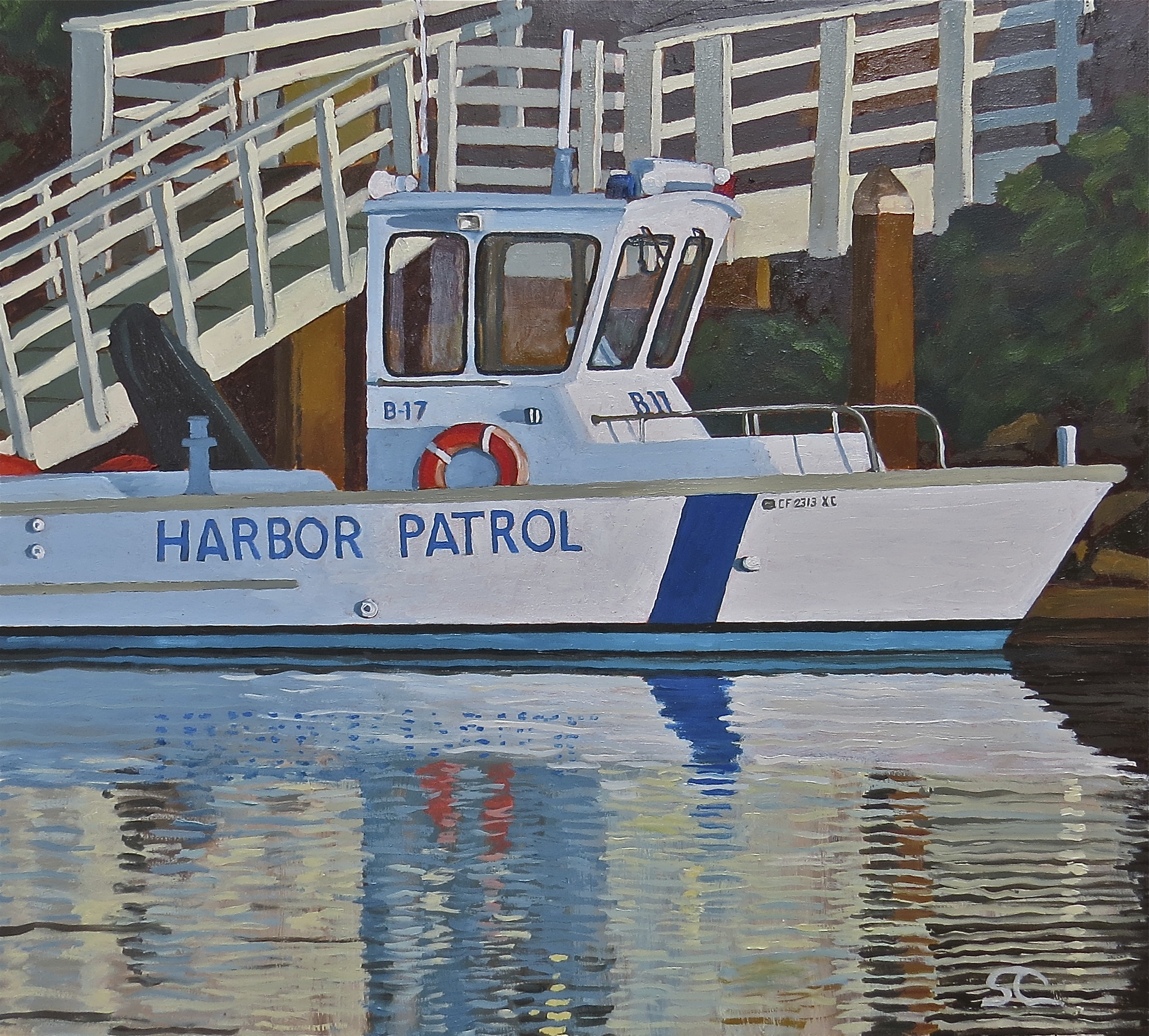 """B-17, Harbor Patrol"" oil on panel 22 x 24 sold"