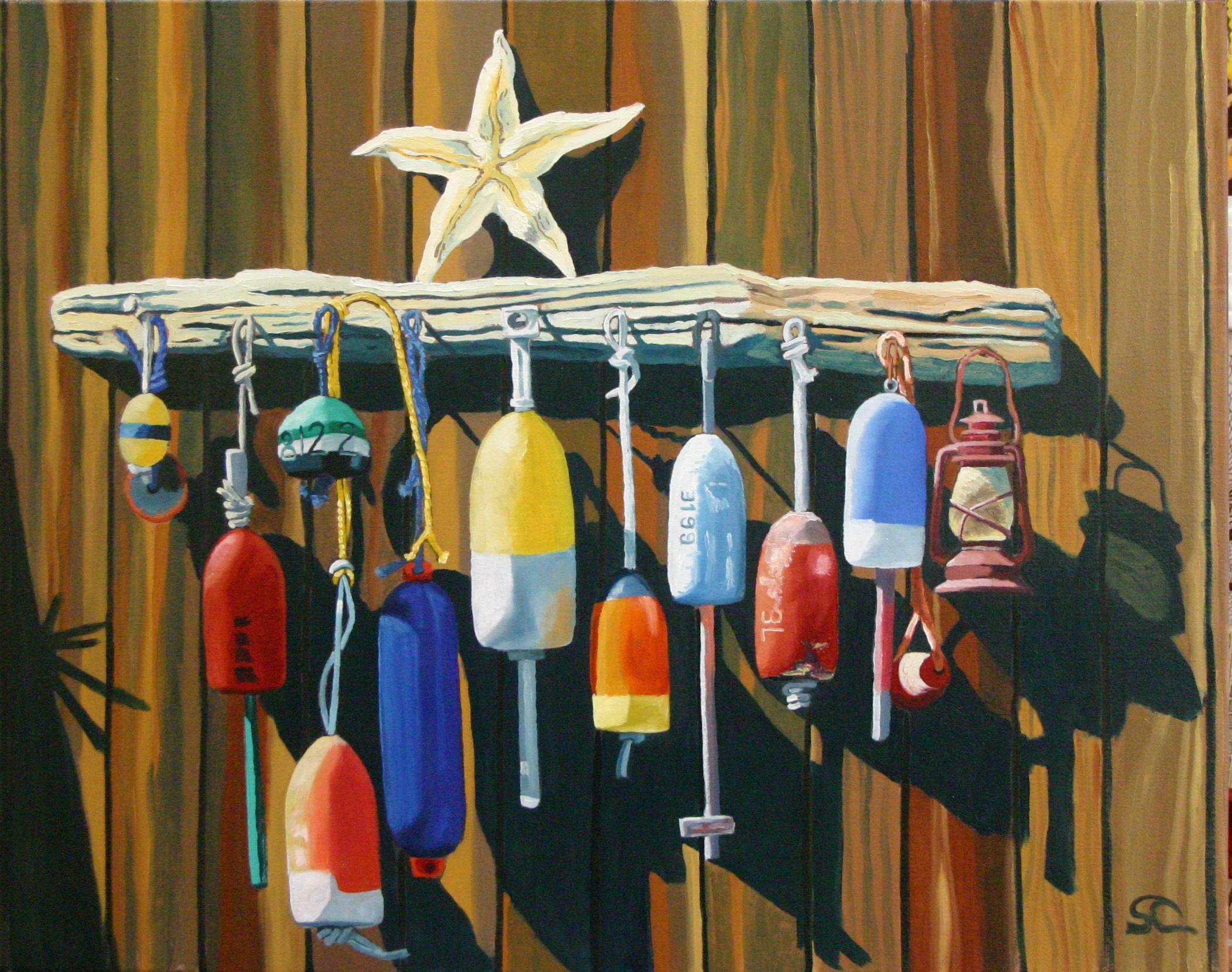 """Star Buoys"" oil on canvas 22 x 28 sold"
