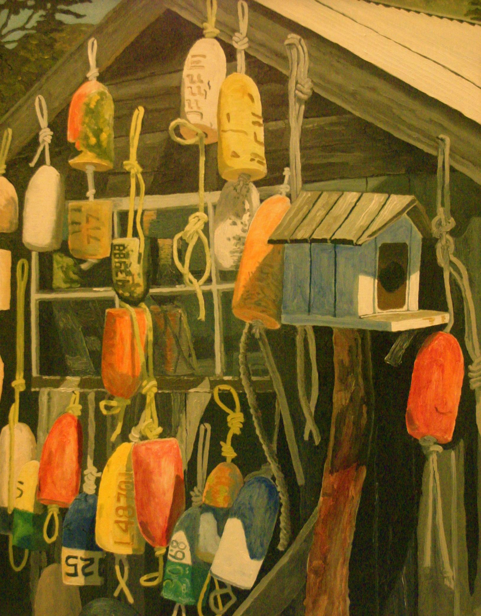 """Buoys in the Hood"" oil on canvas 24 x 30"