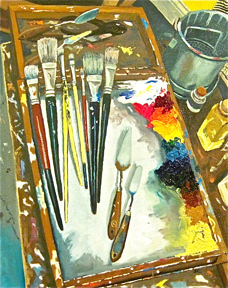 """""""Tools of the Trade"""" oil on canvas 16 x 20"""