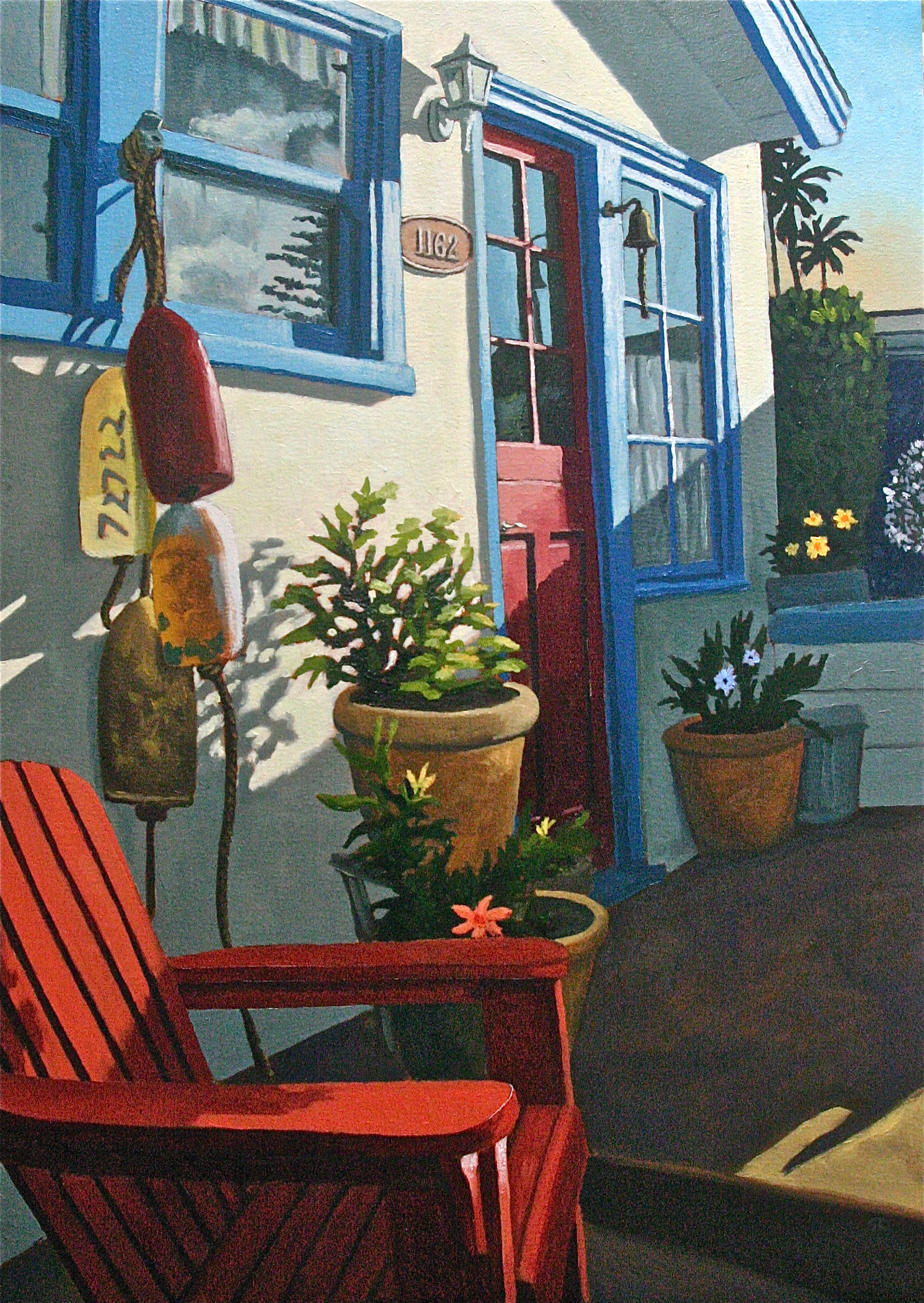 """""""Front Porch"""" oil on canvas 24 x 36 sold"""