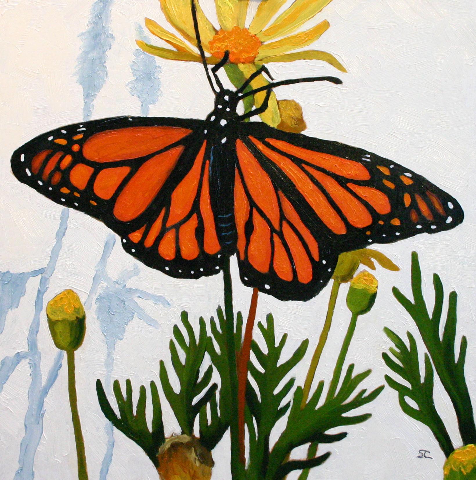 """""""Mariposa"""" oil on panel 12 x 12 sold"""