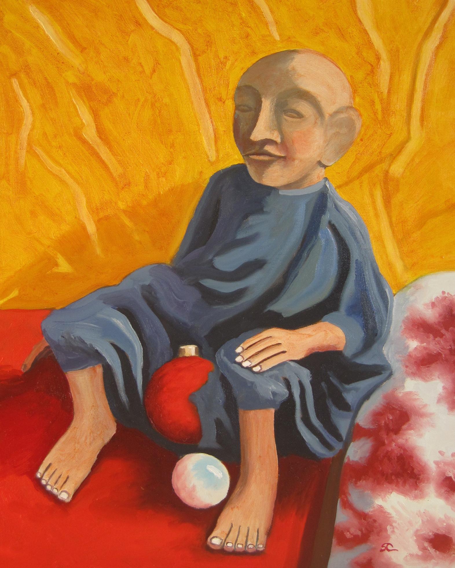 """The Little Man"" oil on canvas 16 x 20"