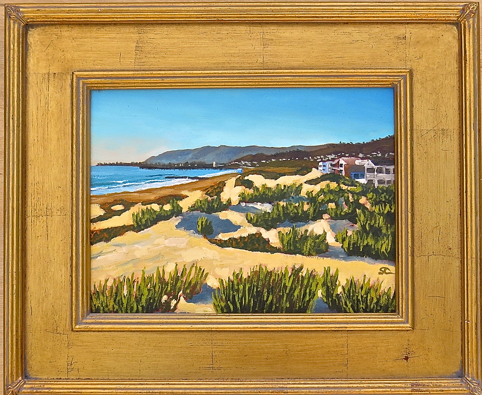 """""""Yvonne's Dunes"""" oil on panel 9 x 12  sold"""