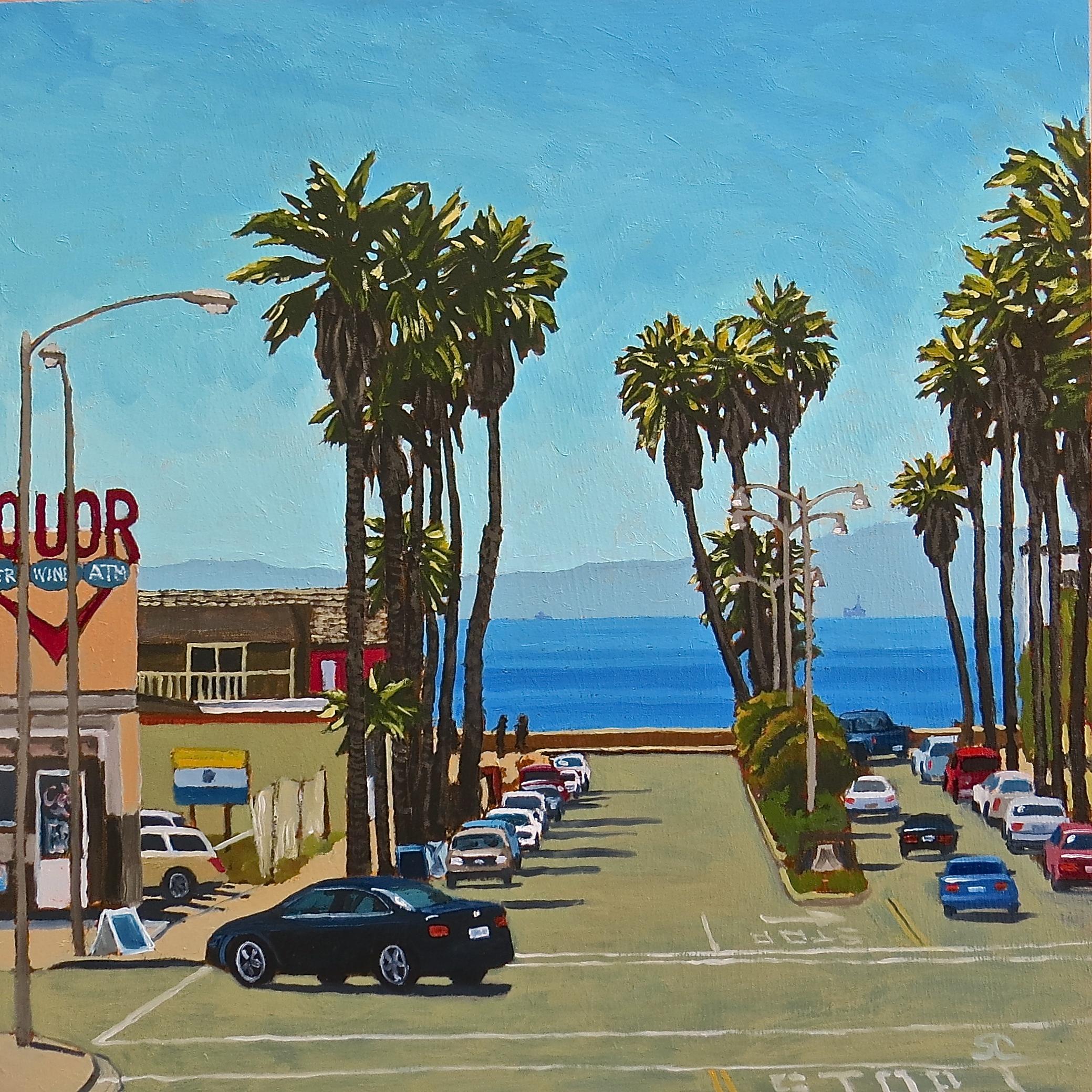 """Bottom of Seaward"" oil on panel 16 x 16  Sold"