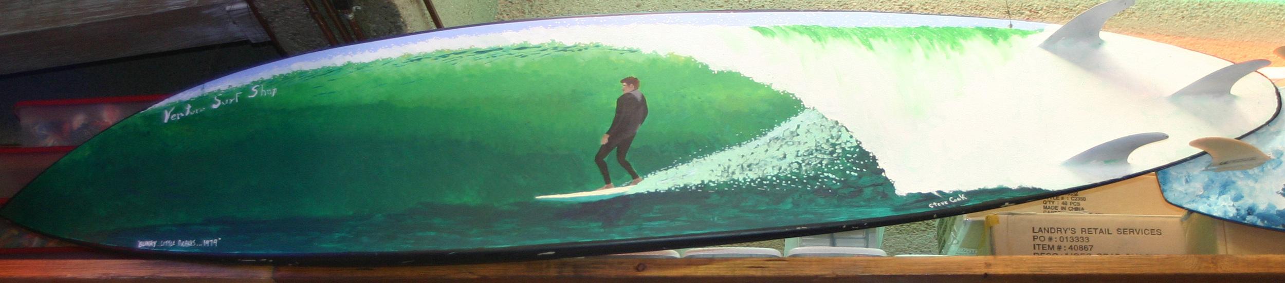 """Blinky"" acrylic on surfboad  sold"