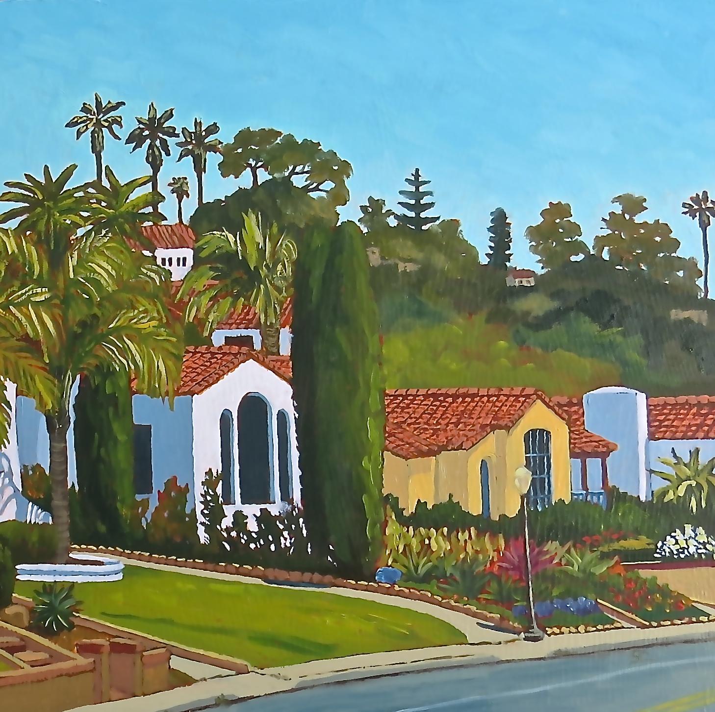 """Aging Gracefully on Poli Street"" oil on panel 16 x 16"