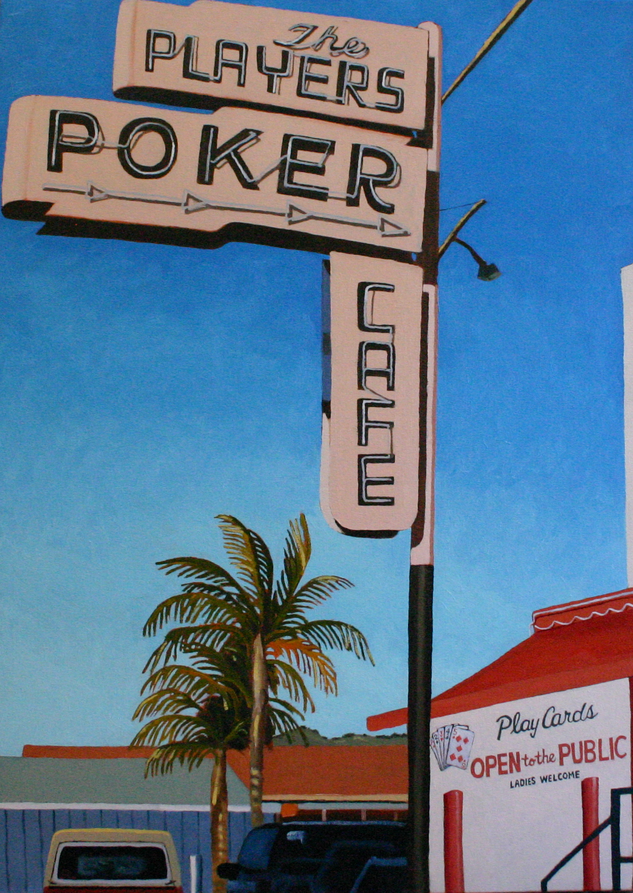 """""""The Players Club"""" oil on canvas 24 x 36   sold"""