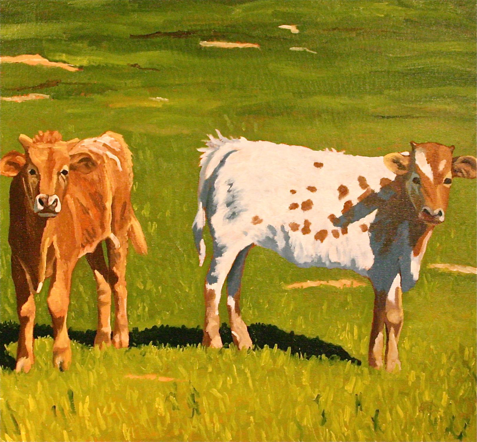 """Pasture Buddies"" oil on canvas 30 x 30    sold"