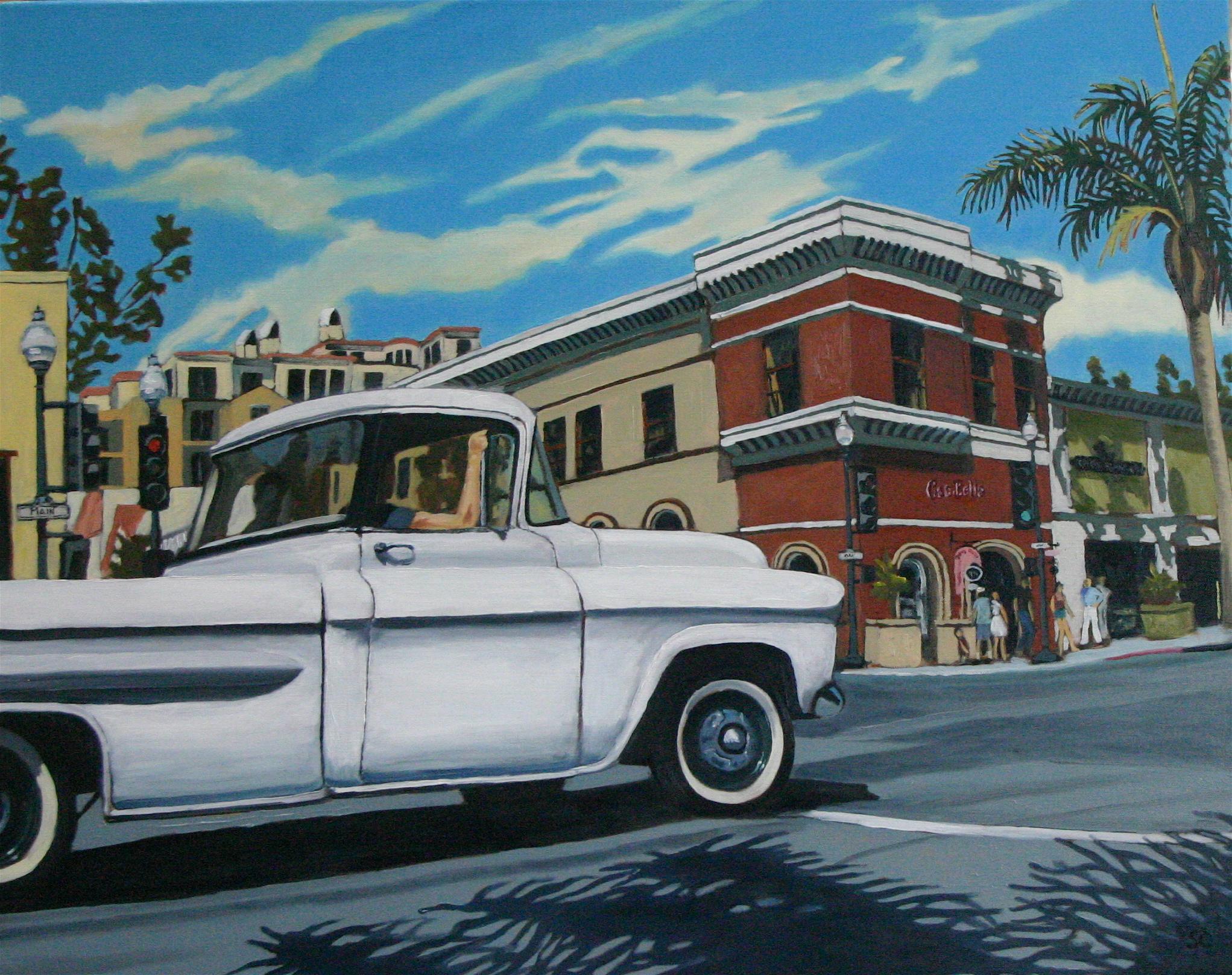 """Main Street Cruise"" oil on canvas 24 x 30"