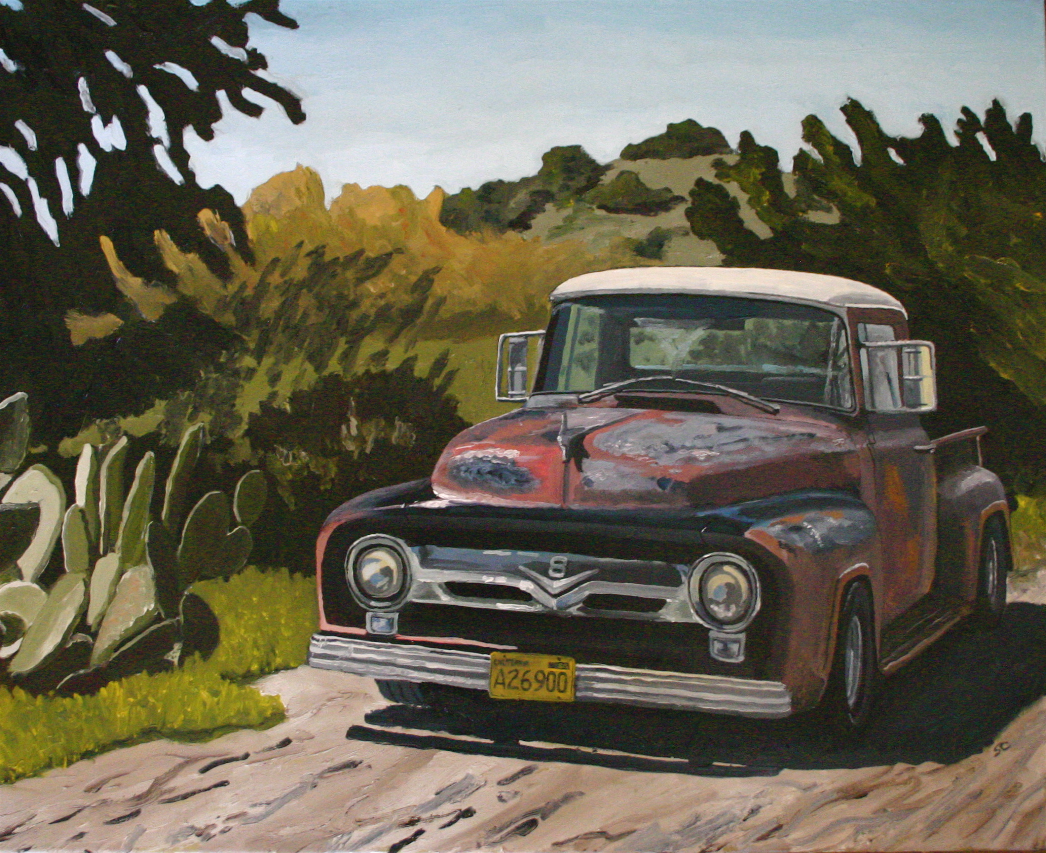 """Old 56"" oil on canvas 24 x 30"