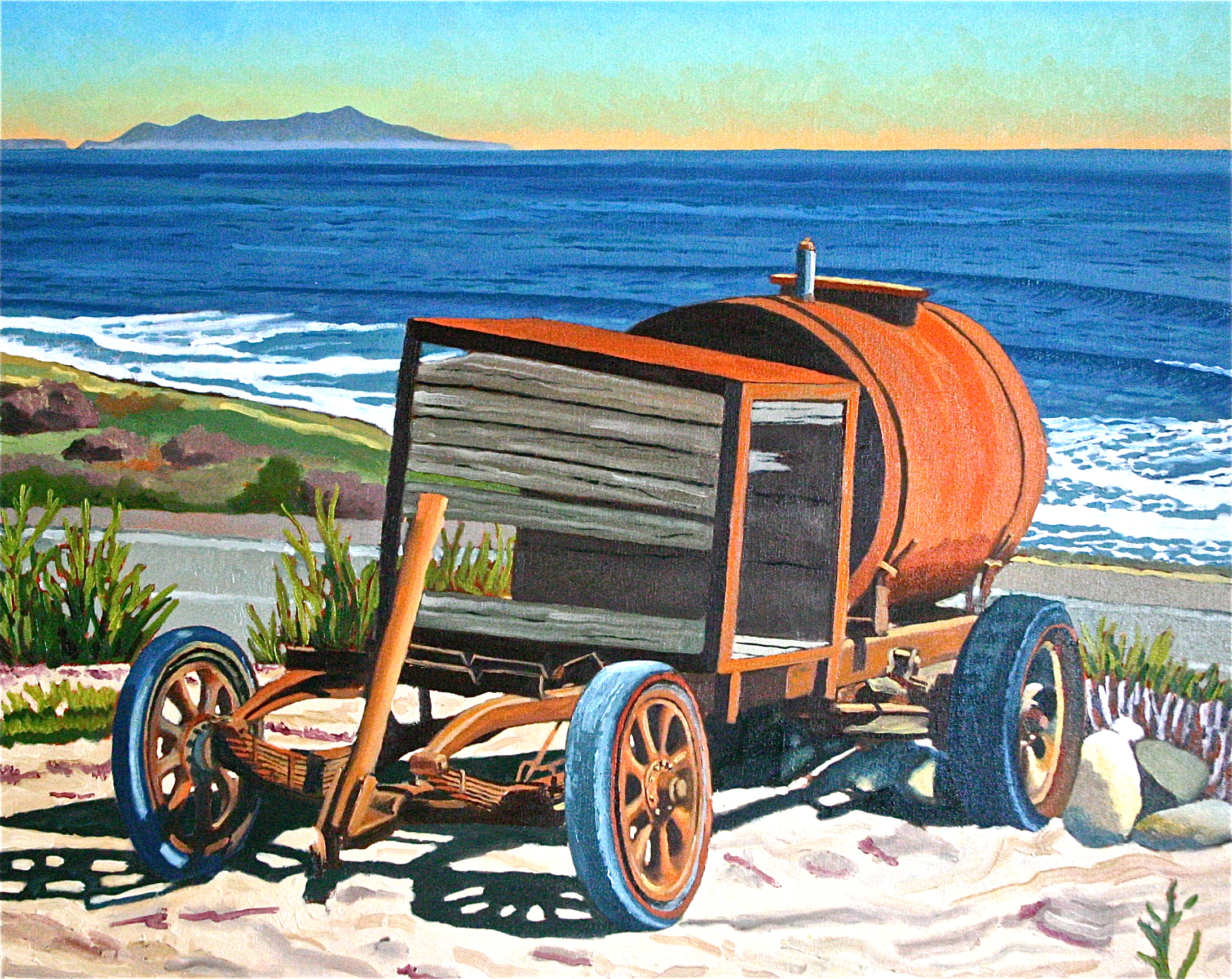 """Water Wagon, Taylor Ranch"" oil on canvas 24 x 30"