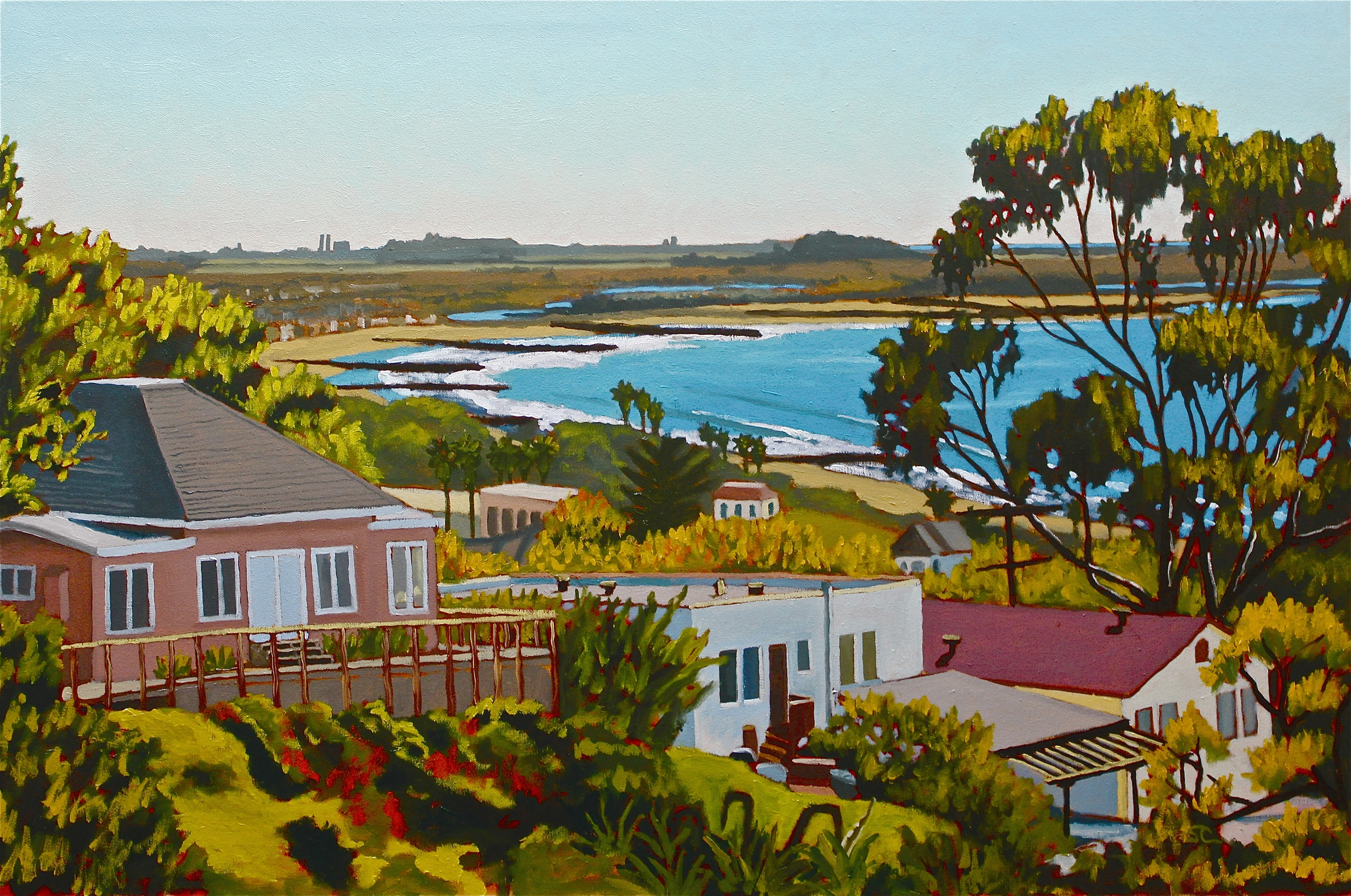 """""""Pierpont from the Botanical Garden Trail"""" oil on canvas 24 x 36"""