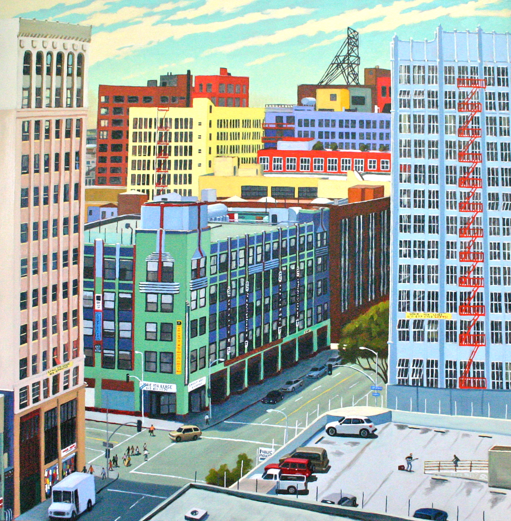 Land of the Lofts   oil on canvas 40 x 40