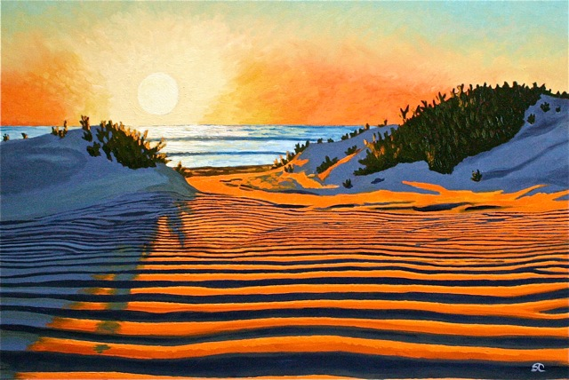 Sunset Dunes  oil on canvas 24 x 36 SOLD