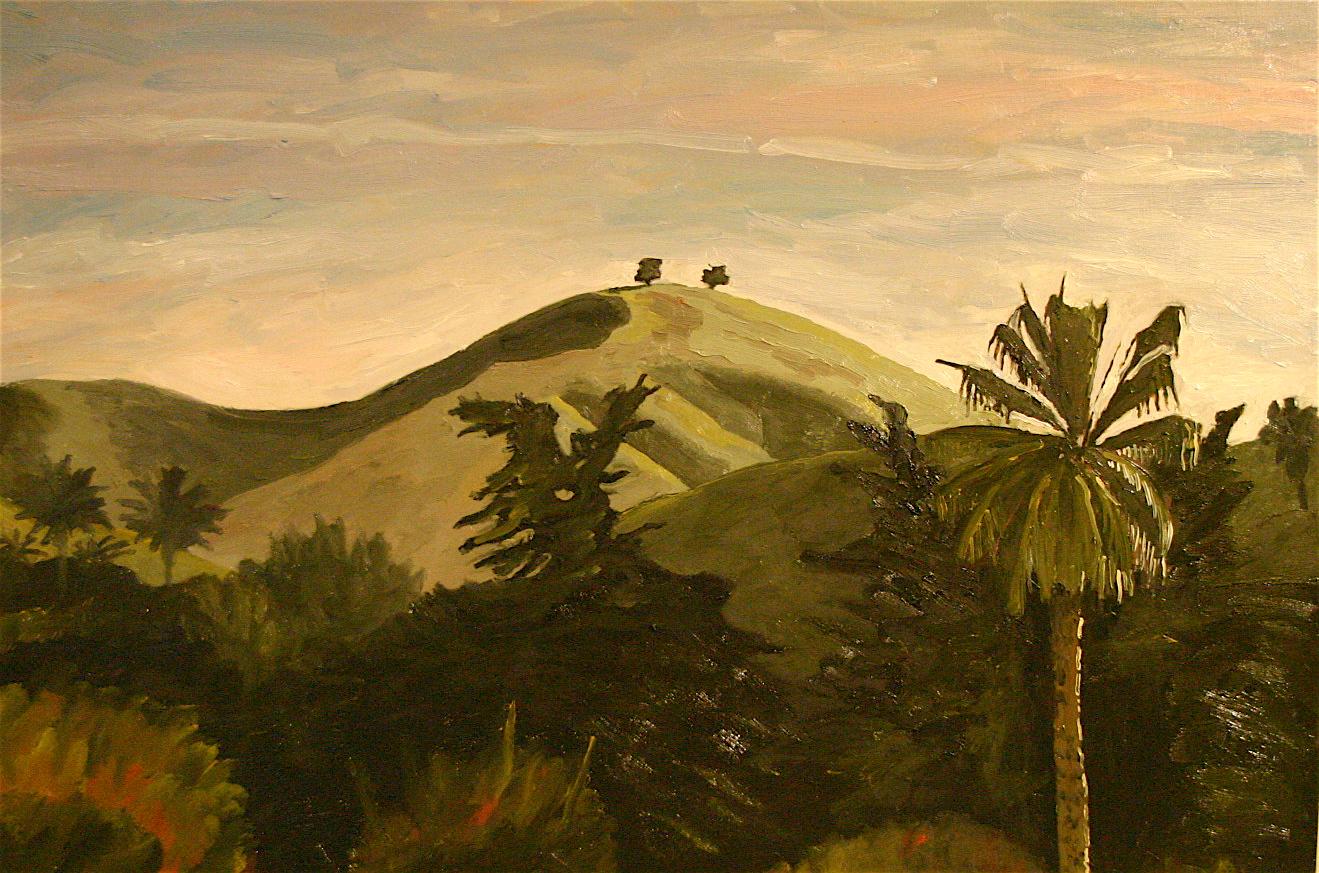 El Nino Two Tree oil on canvas 24 x 36