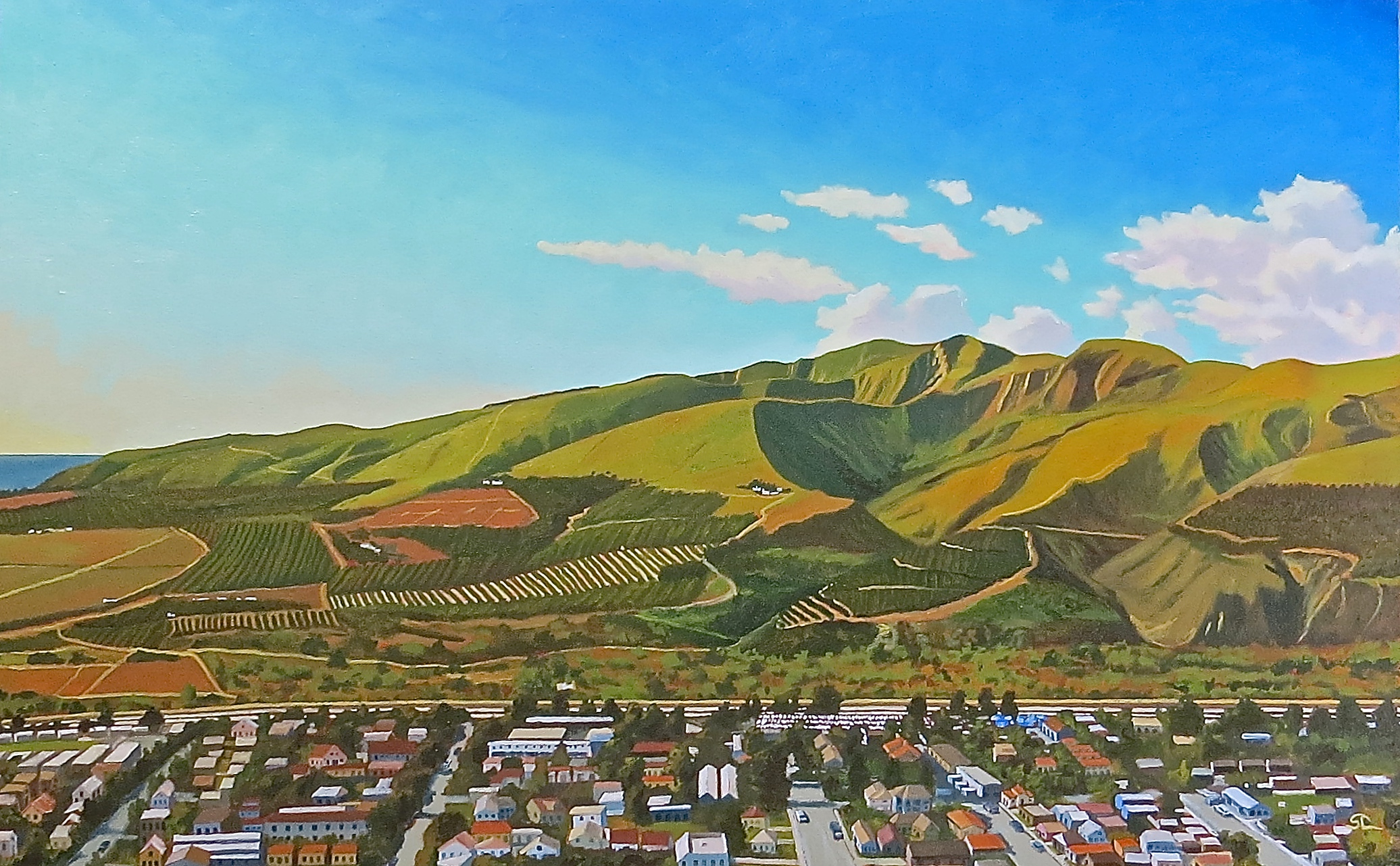 """Springtime at Taylor Ranch"" oil on canvas 30 x 48"