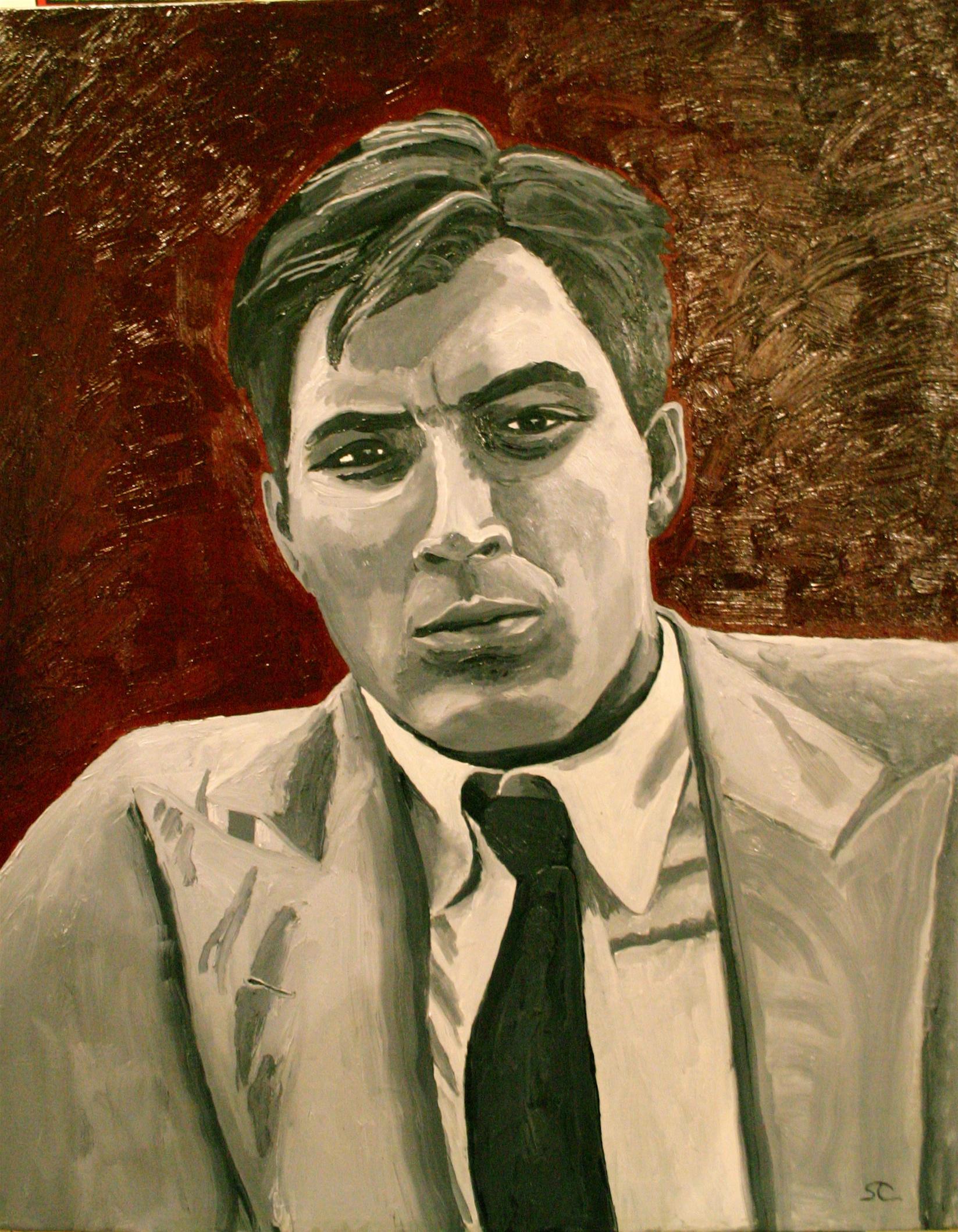 """""""Ernesto (young Che Guevera)"""" oil on canvas 24 x 30"""