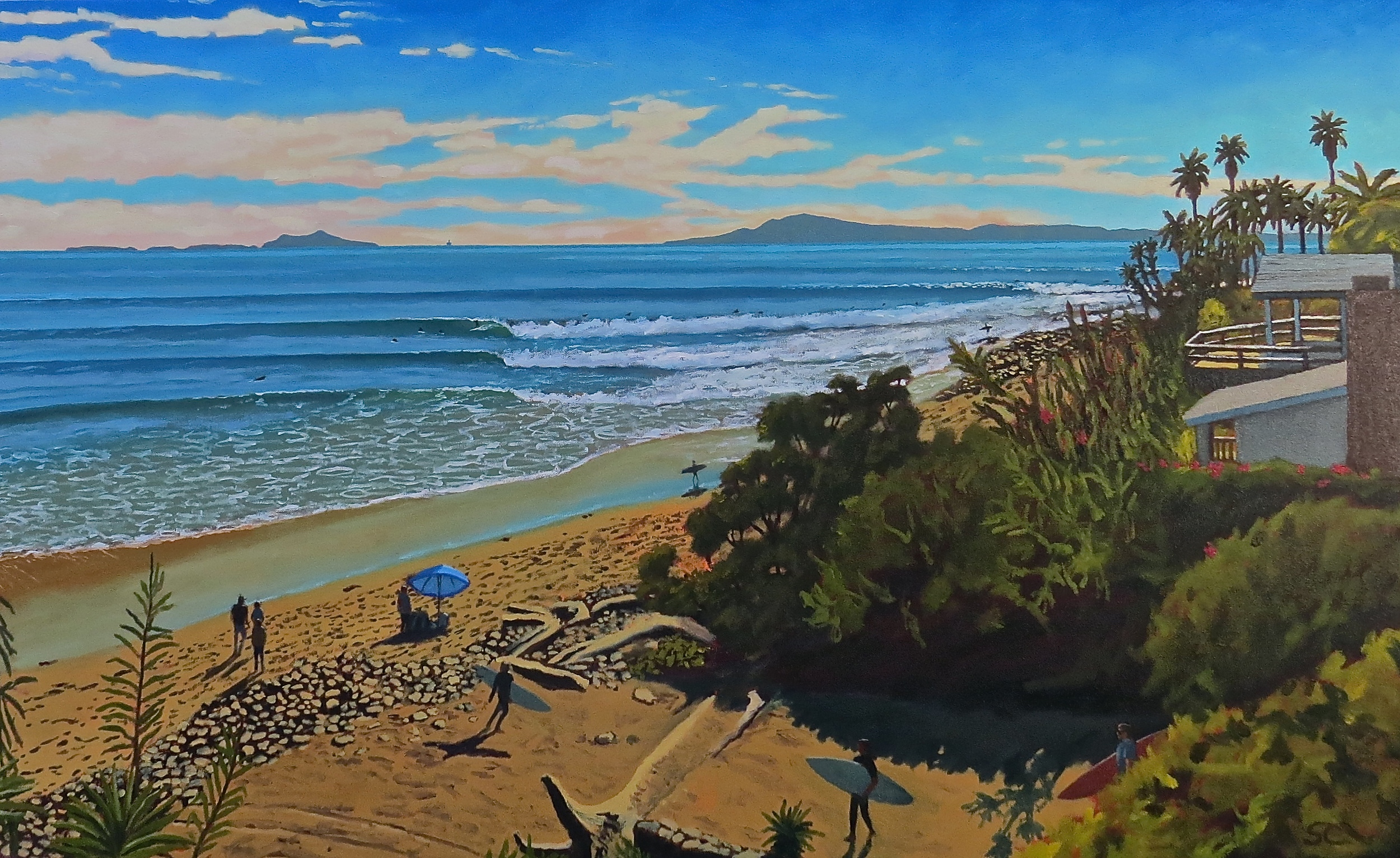 """Rincon Classic"" oil on canvas 30 x 48, private collection"